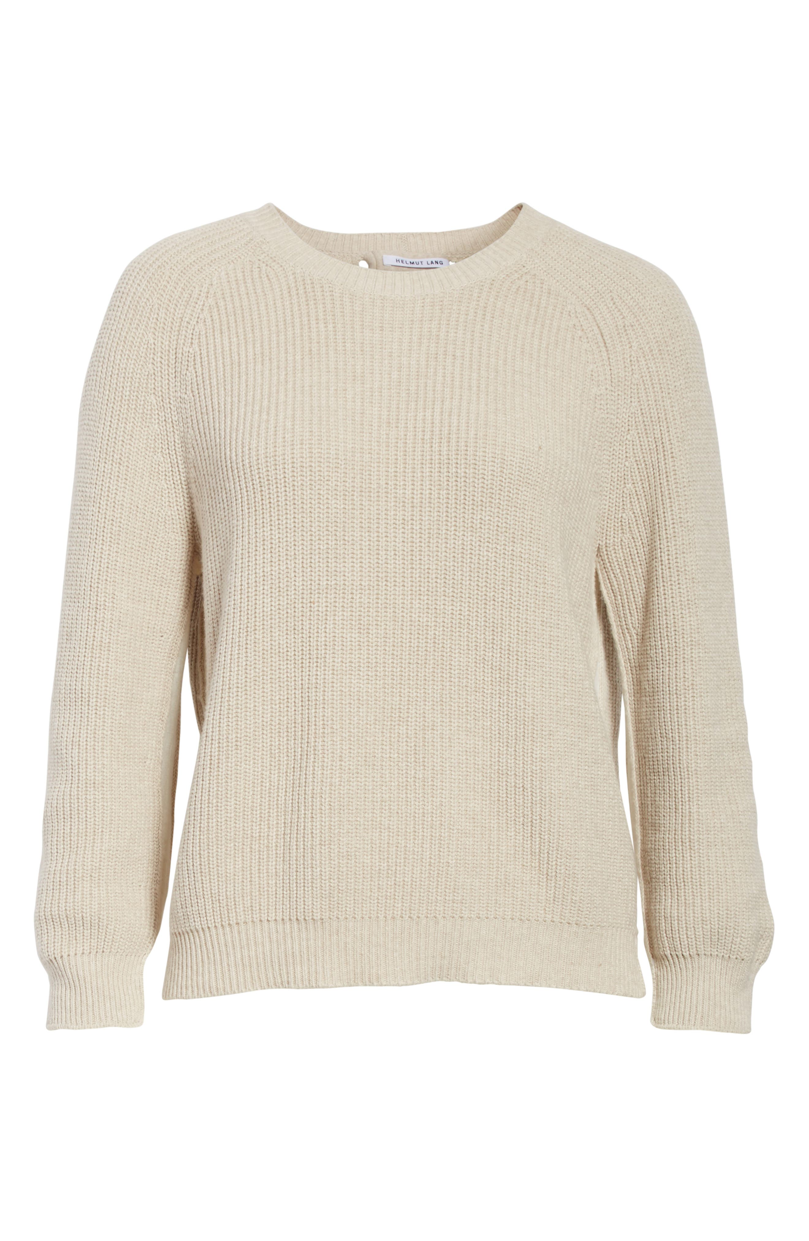 Layered Rib Pullover,                             Alternate thumbnail 6, color,                             Linen
