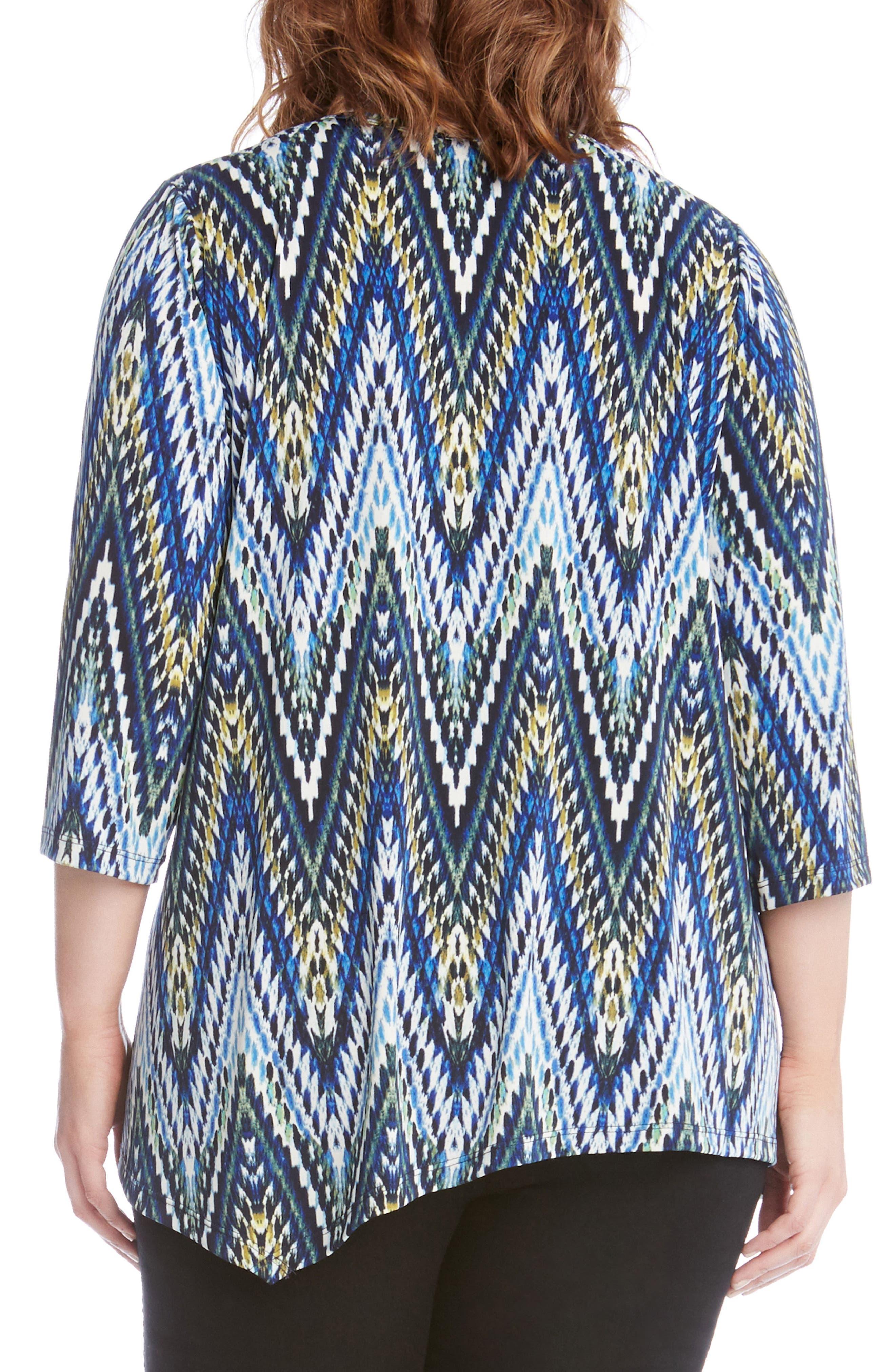 Alternate Image 2  - Karen Kane Asymmetrical Hem Top (Plus Size)