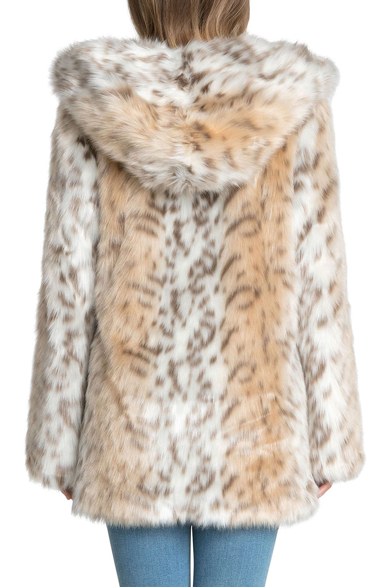 Alternate Image 3  - Avec Les Filles Hooded Faux Fur Jacket