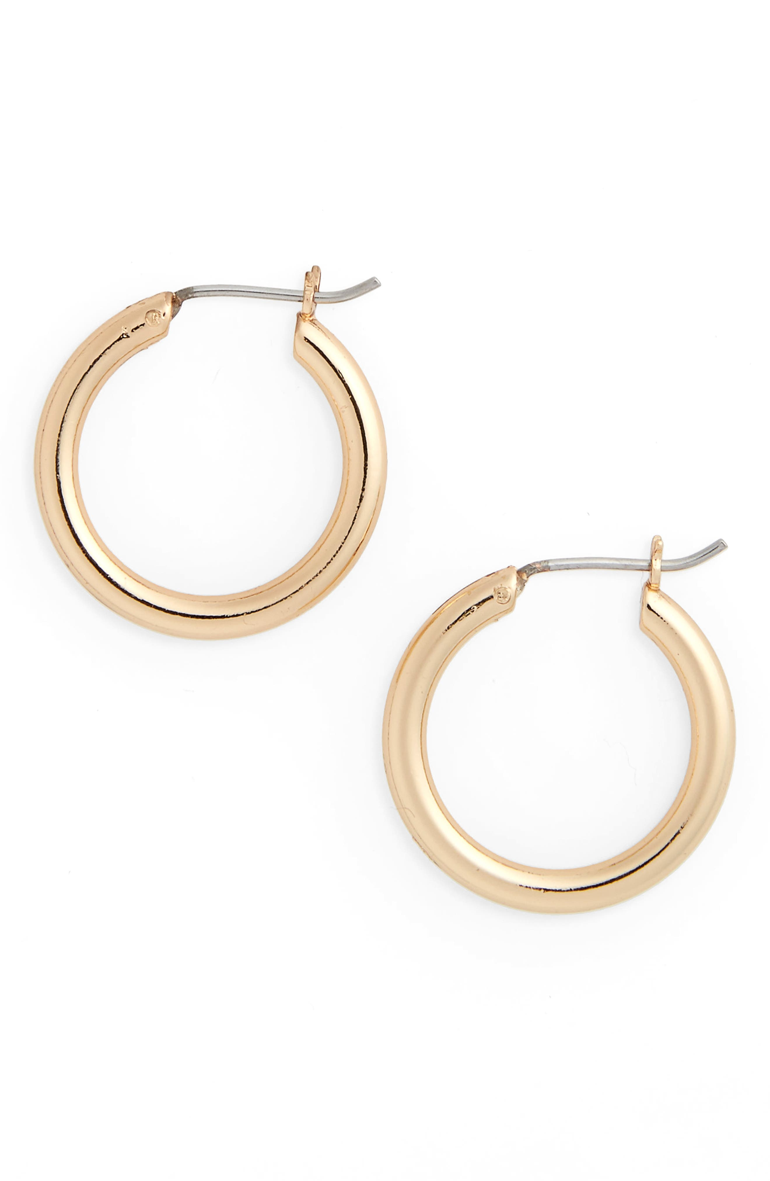 Small Endless Hoop Earrings,                             Main thumbnail 1, color,                             Gold