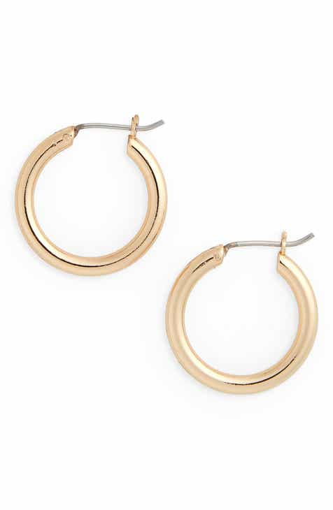 Halogen Small Endless Hoop Earrings