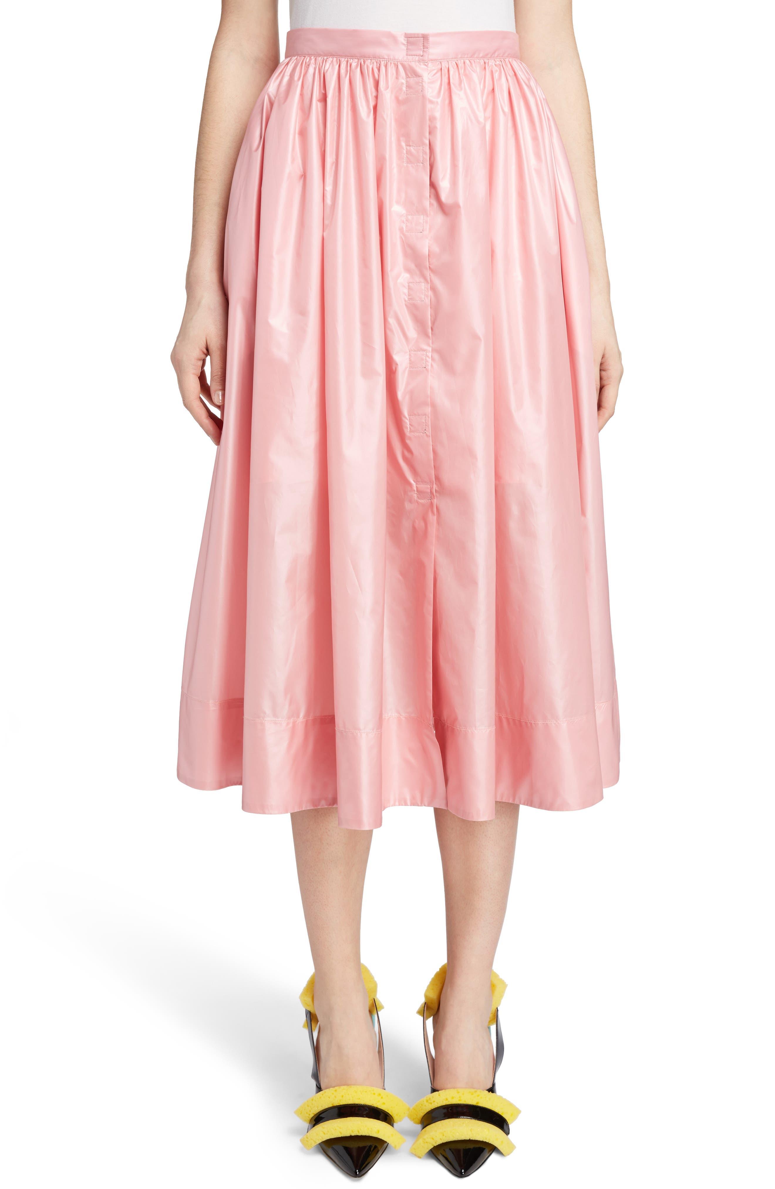 Nylon Parachute Skirt,                         Main,                         color, Candy Pink