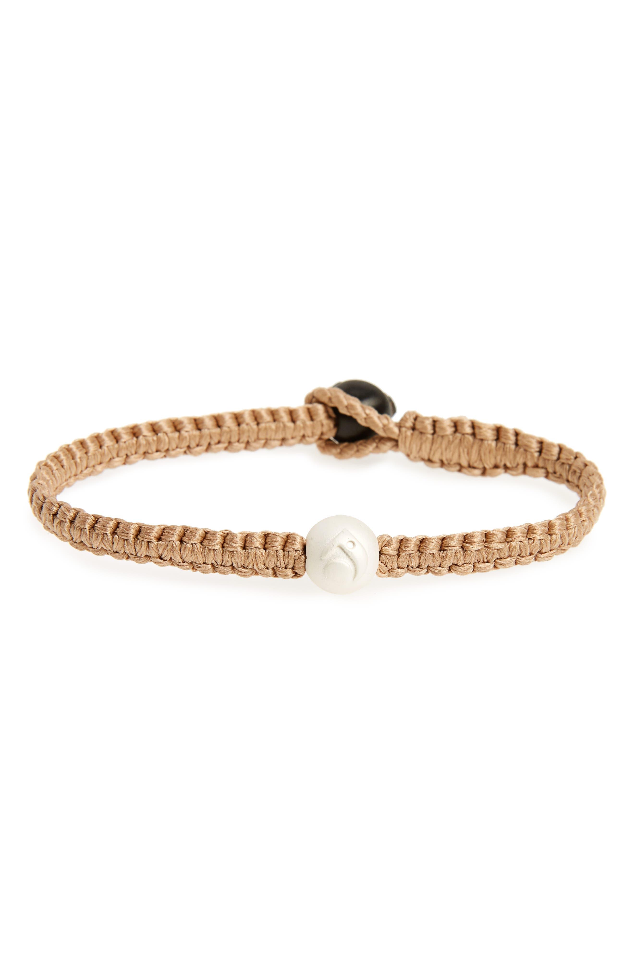 Single Wrap Bracelet,                         Main,                         color, Sand