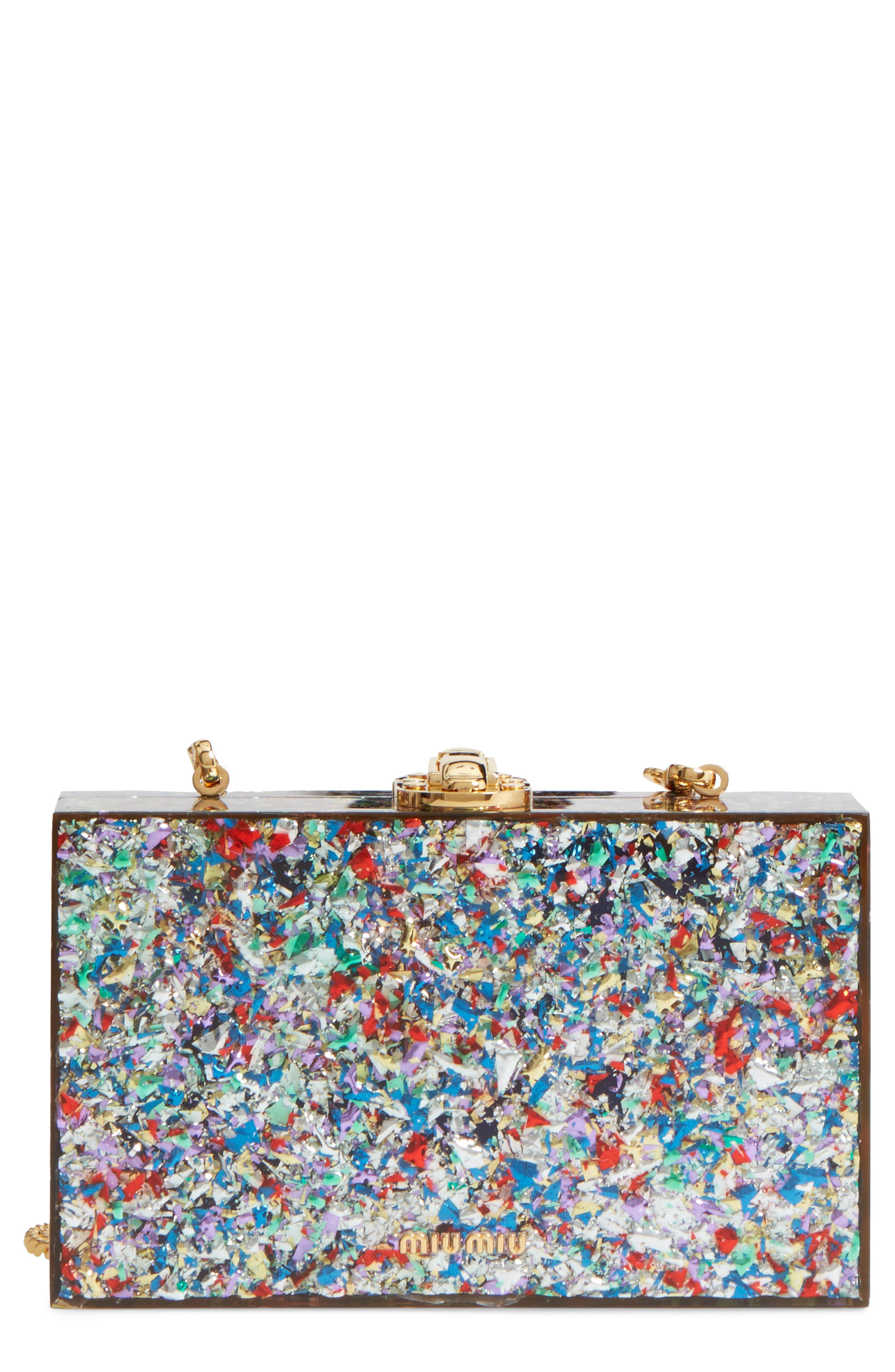 MIU MIU Confetti Box Clutch