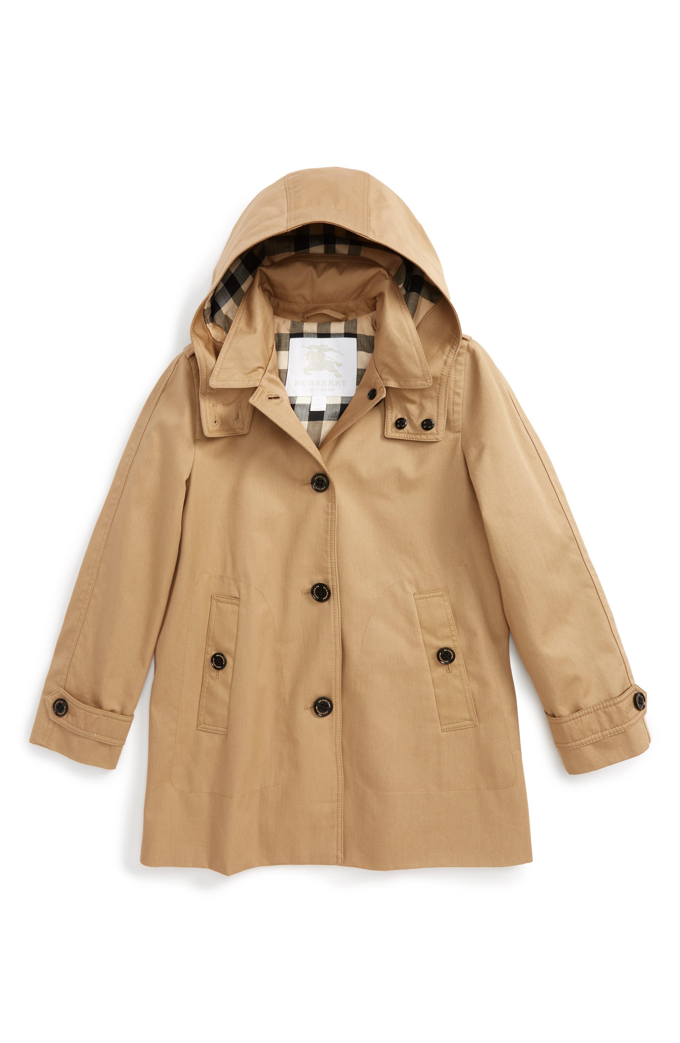 Burberry Geri Update Hooded Rain Jacket (Little Girls & Big Girls)