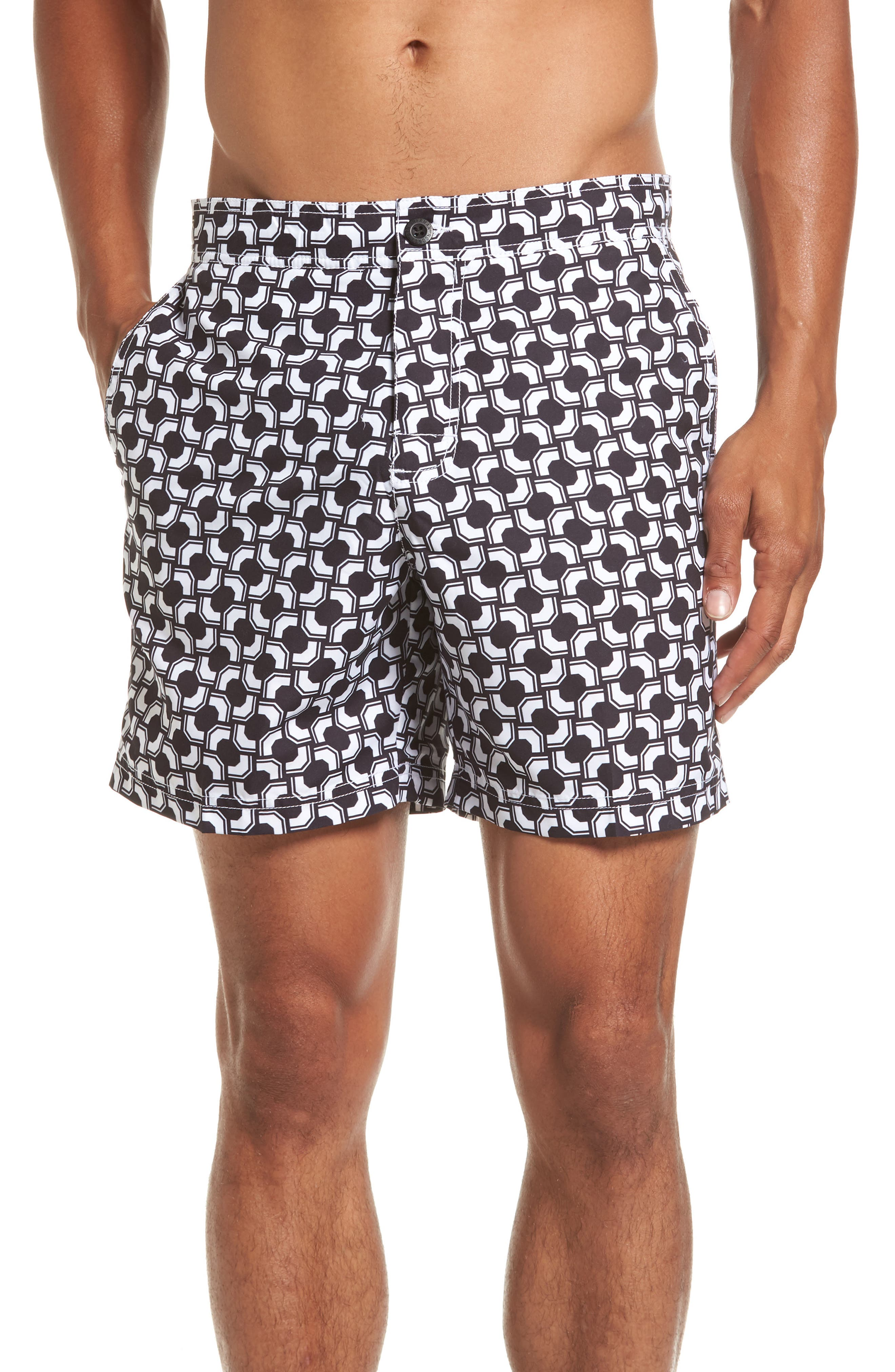 Ben Sherman Graphic Print Swim Trunks