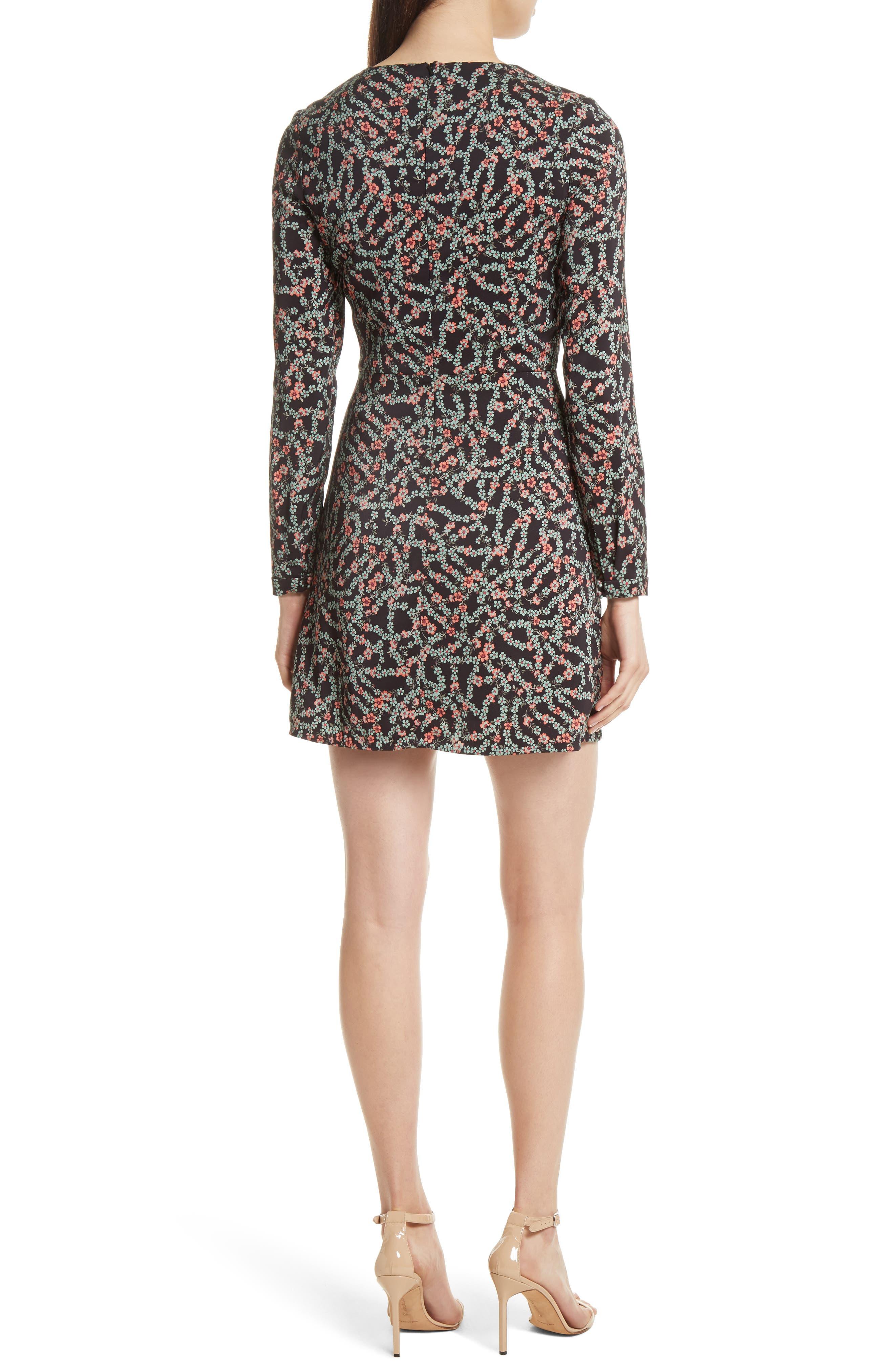 Alternate Image 2  - SALONI Nurul Floral Print Lace-Up Dress