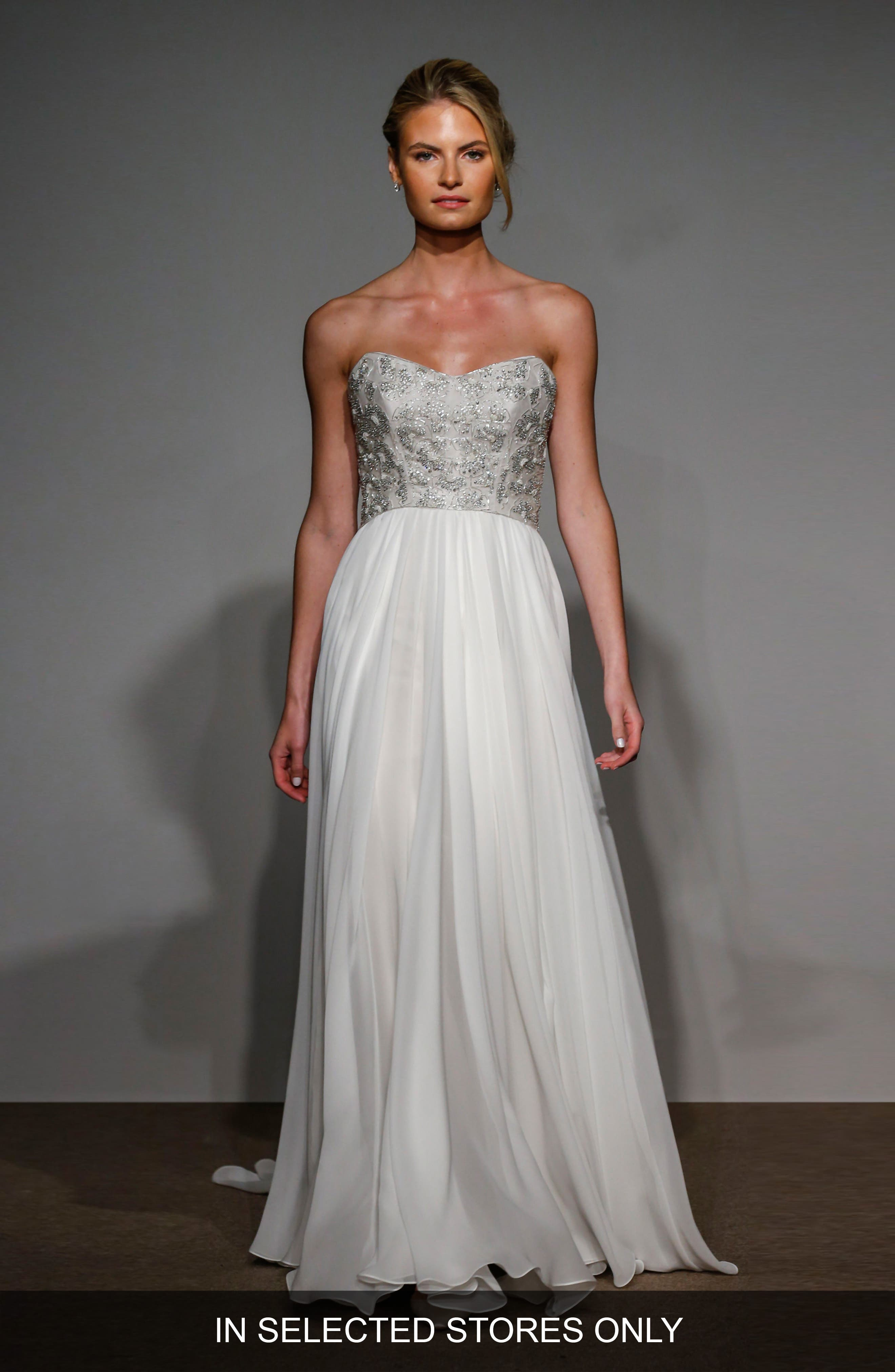 Main Image - Anna Maier Couture Capuchine Strapless Silk Gown
