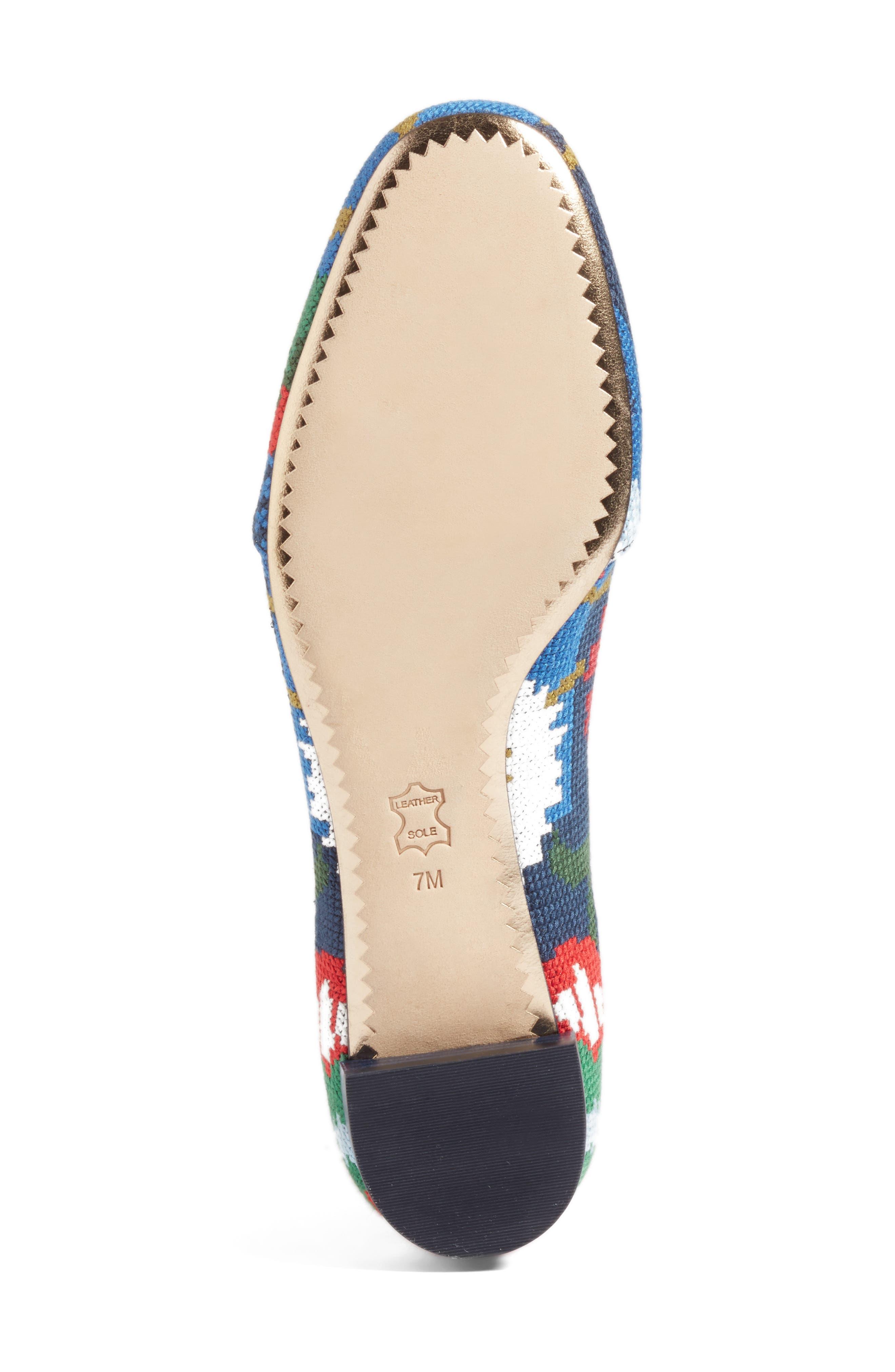 Alternate Image 6  - Tory Burch Sadie Floral Cross Stitch Loafer (Women)