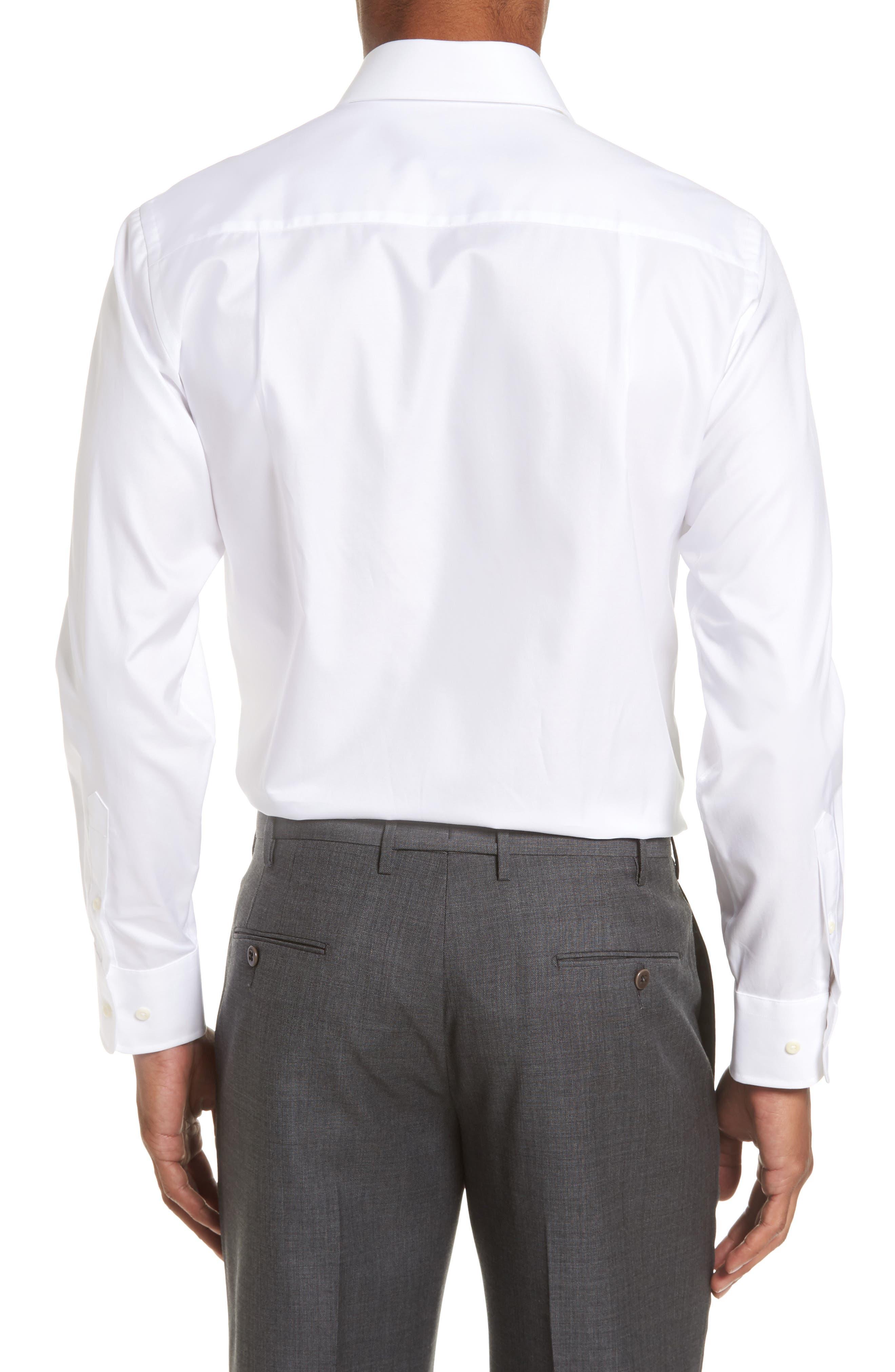 Alternate Image 3  - David Donahue Trim Fit Solid Dress Shirt