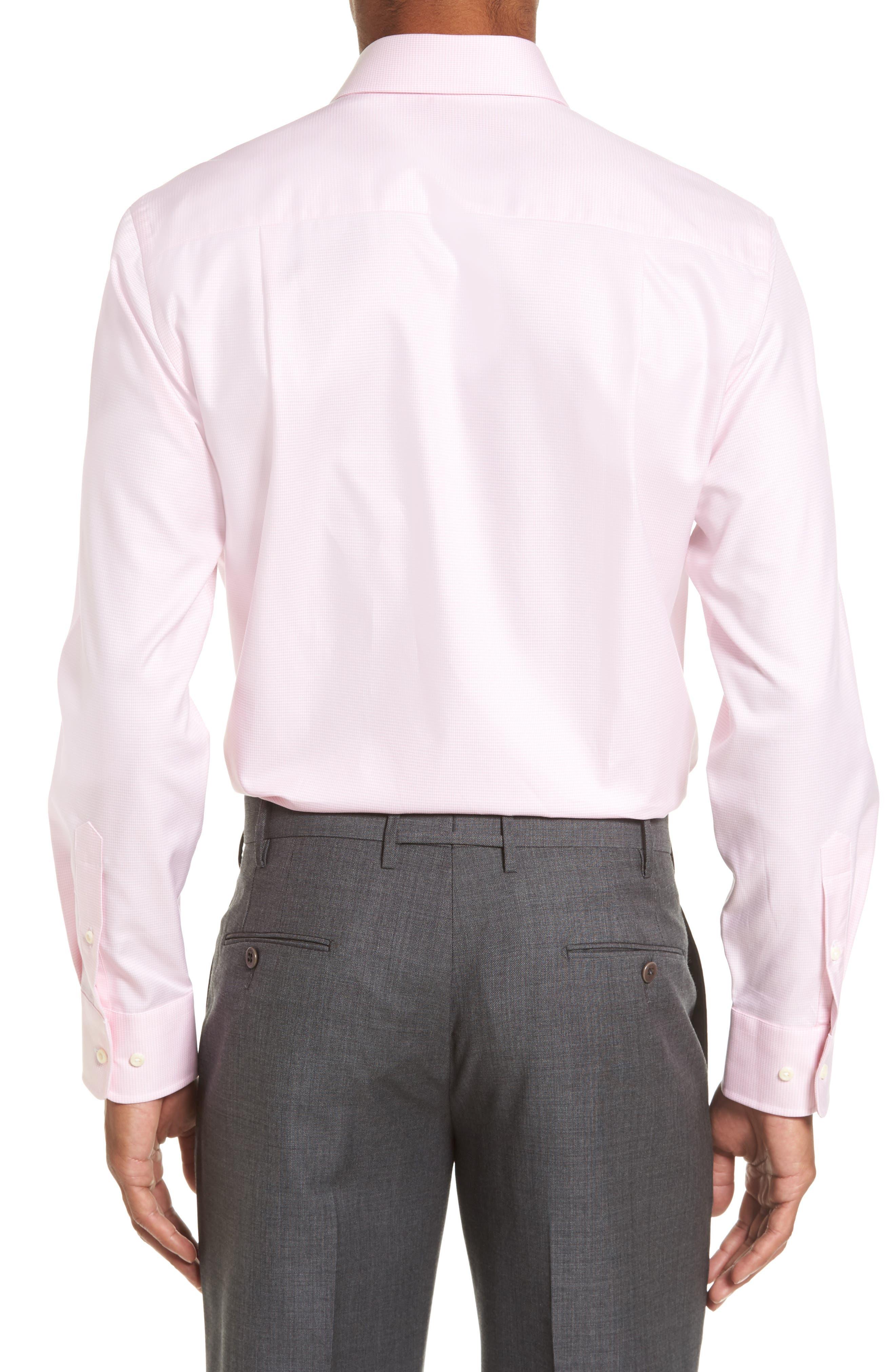 Alternate Image 2  - David Donahue Trim Fit Houndstooth Dress Shirt