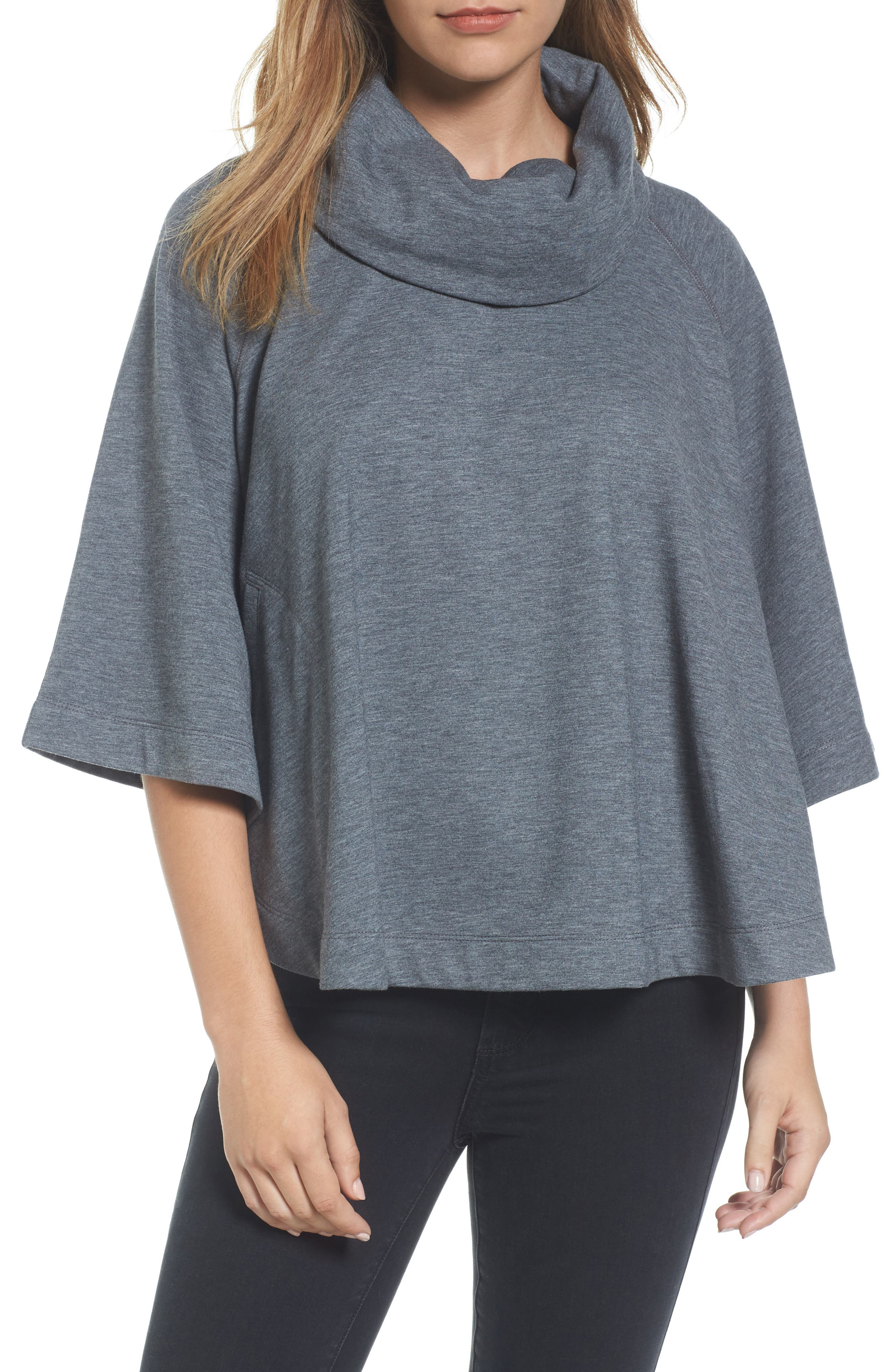 Caslon® Cowl Neck Sweatshirt (Regular & Petite)