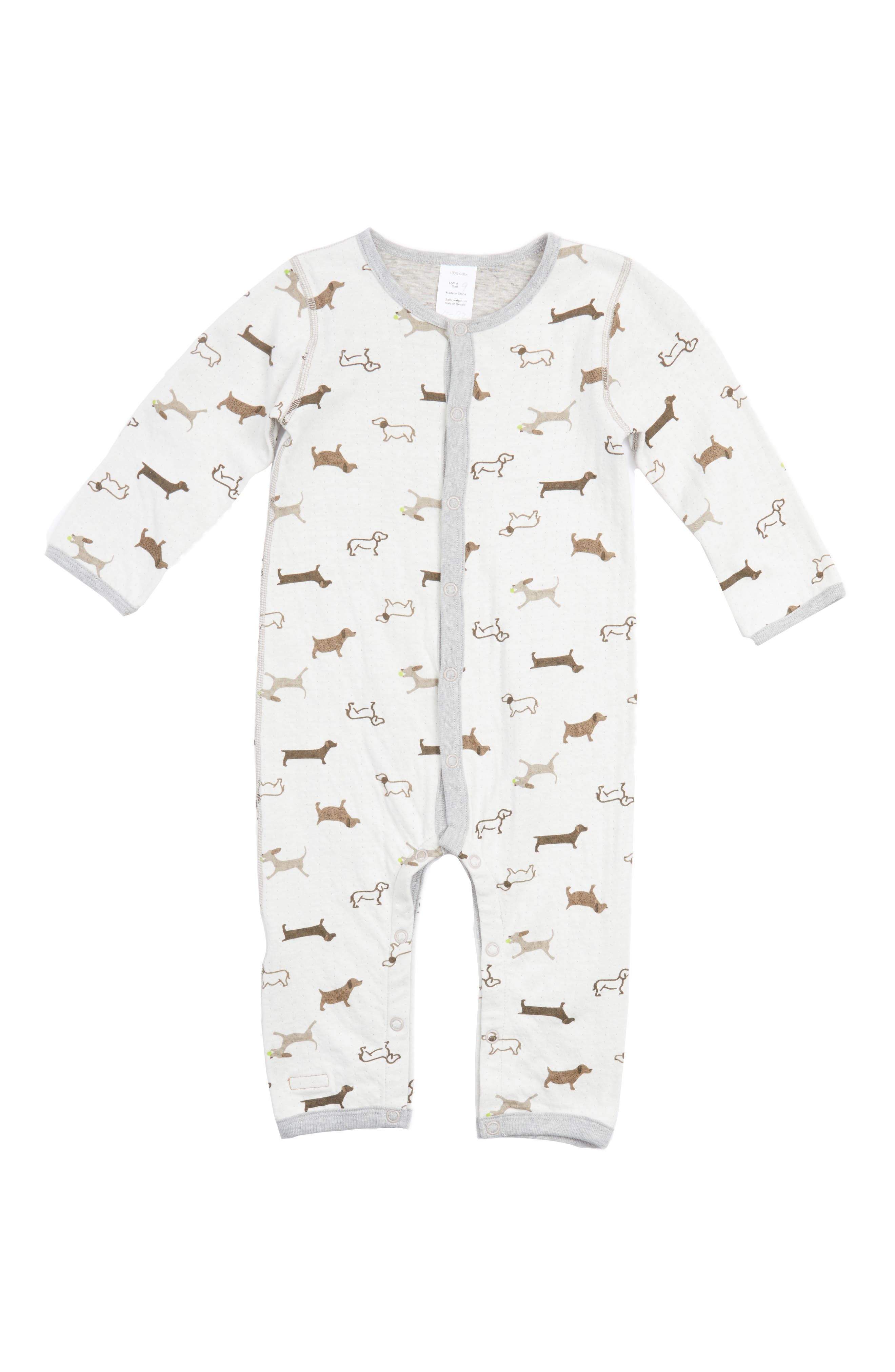 Robeez® Dog Print Double Knit Romper (Baby)