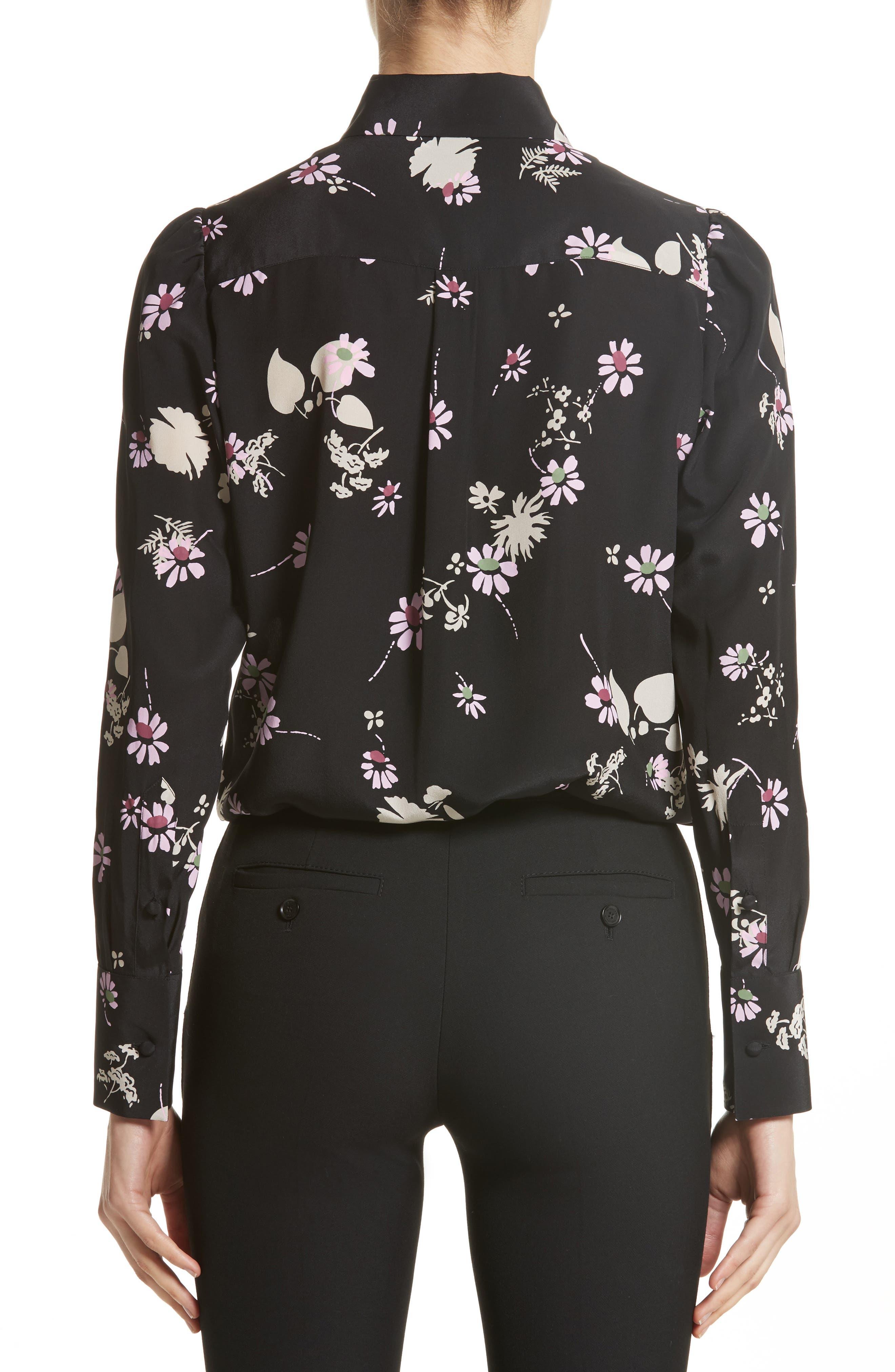 Alternate Image 2  - Valentino Flowers Fall Silk Shirt