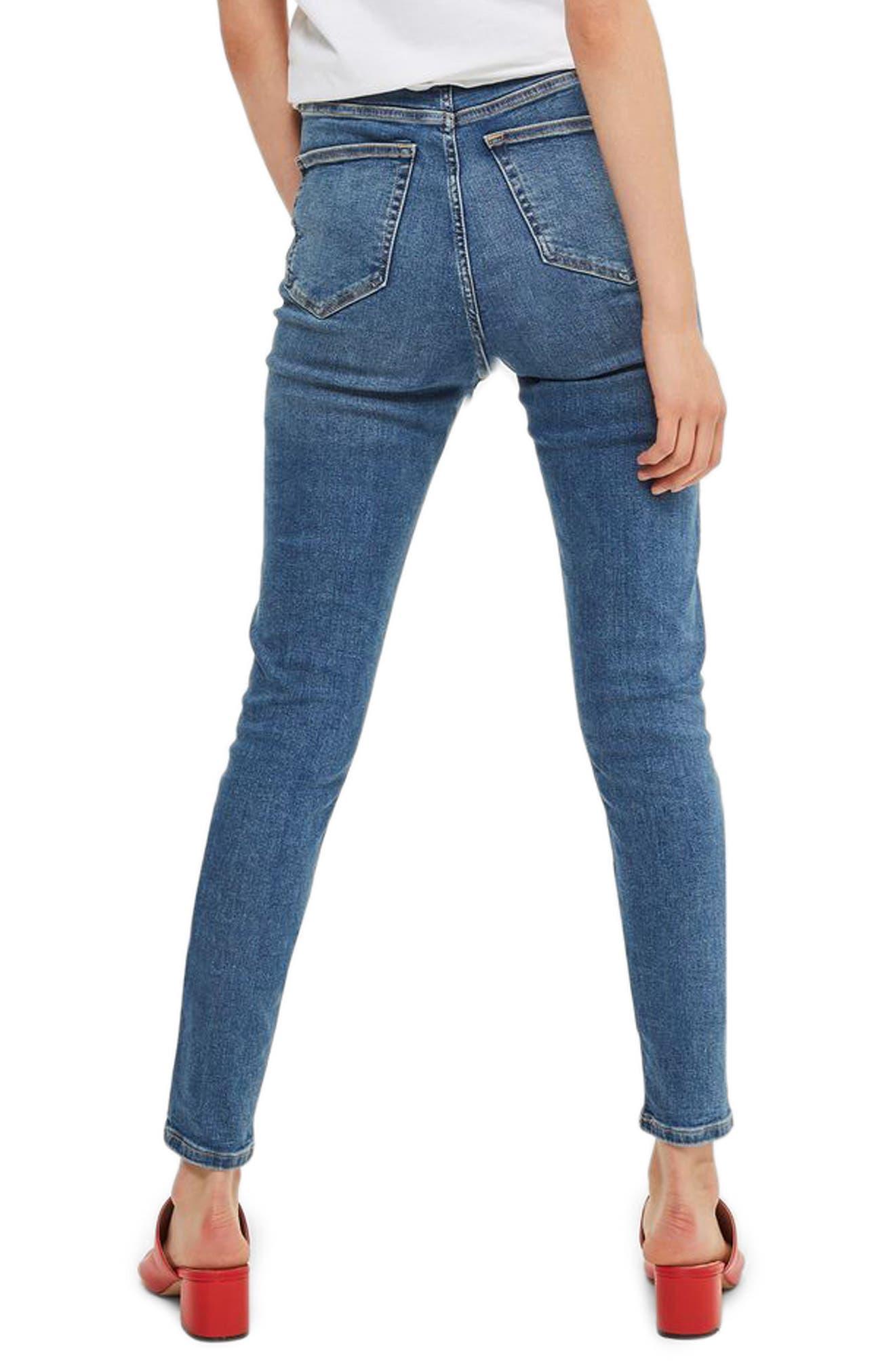 Alternate Image 3  - Topshop Jamie High Waist Ankle Skinny Jeans (Tall)