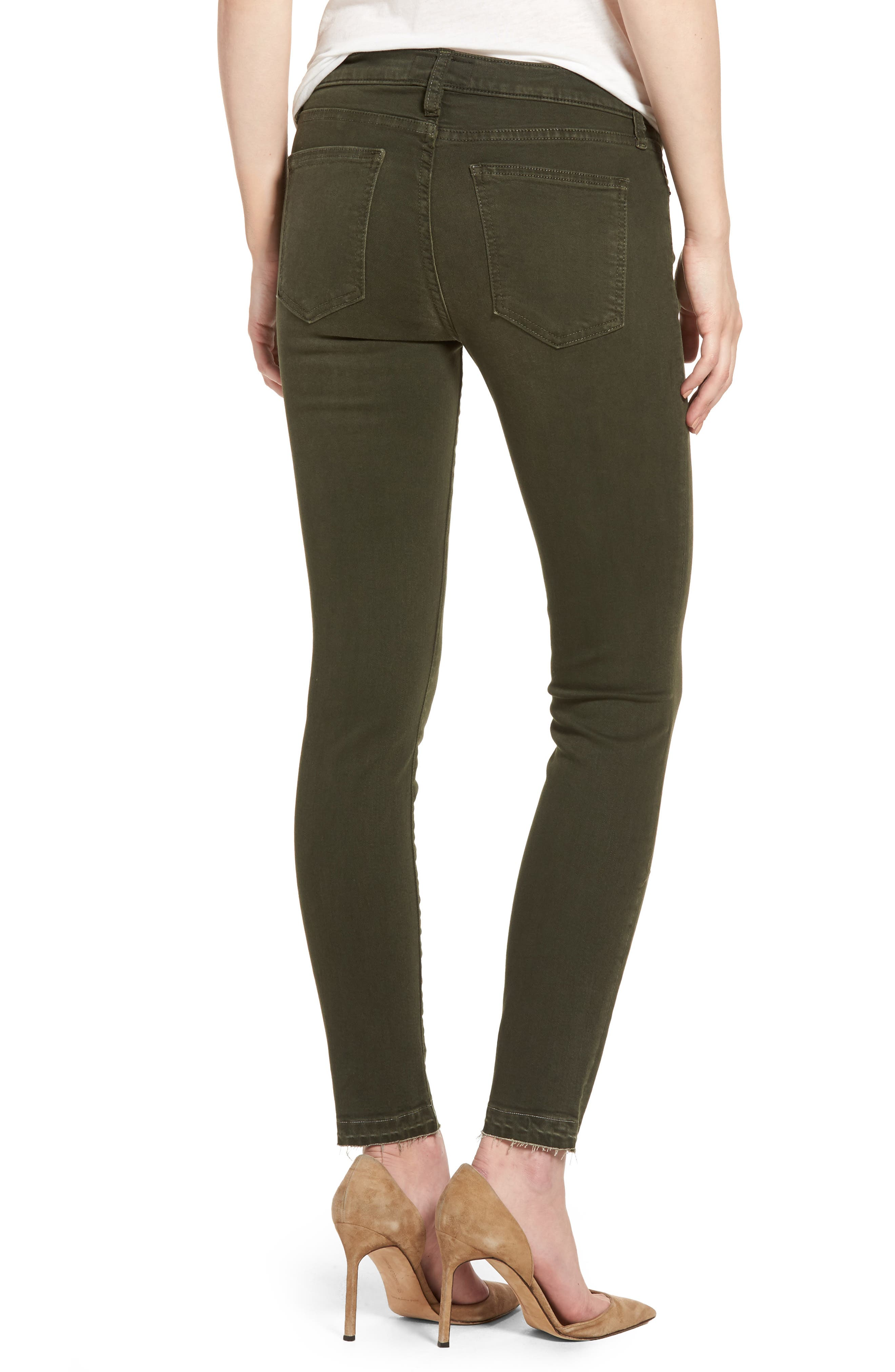 The Stiletto Ankle Skinny Jeans,                             Alternate thumbnail 2, color,                             Forest Night