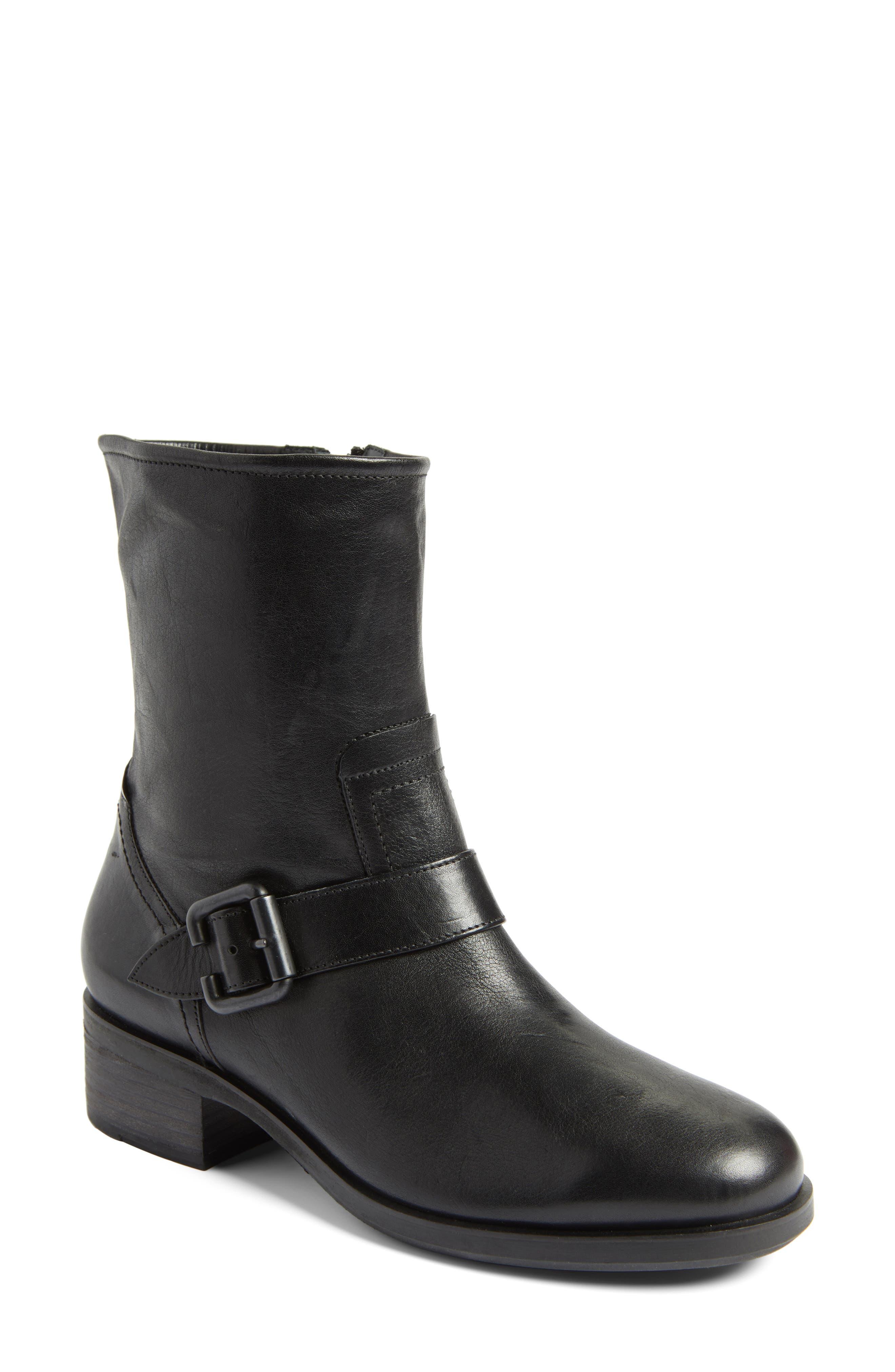 Nixon Moto Boot,                             Main thumbnail 1, color,                             Black Leather