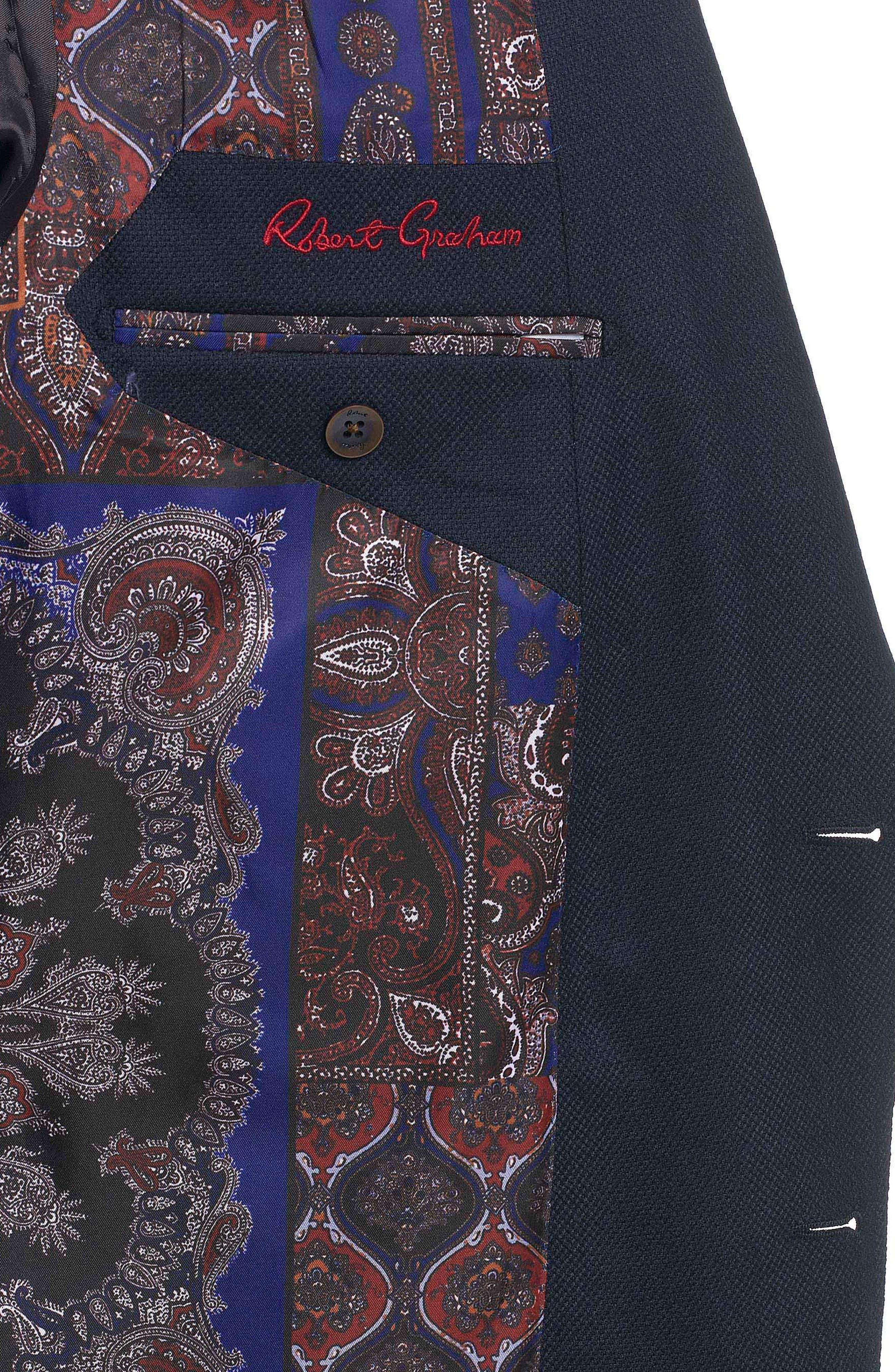 Newburgh Classic Fit Cashmere Sport Coat,                             Alternate thumbnail 6, color,                             Navy