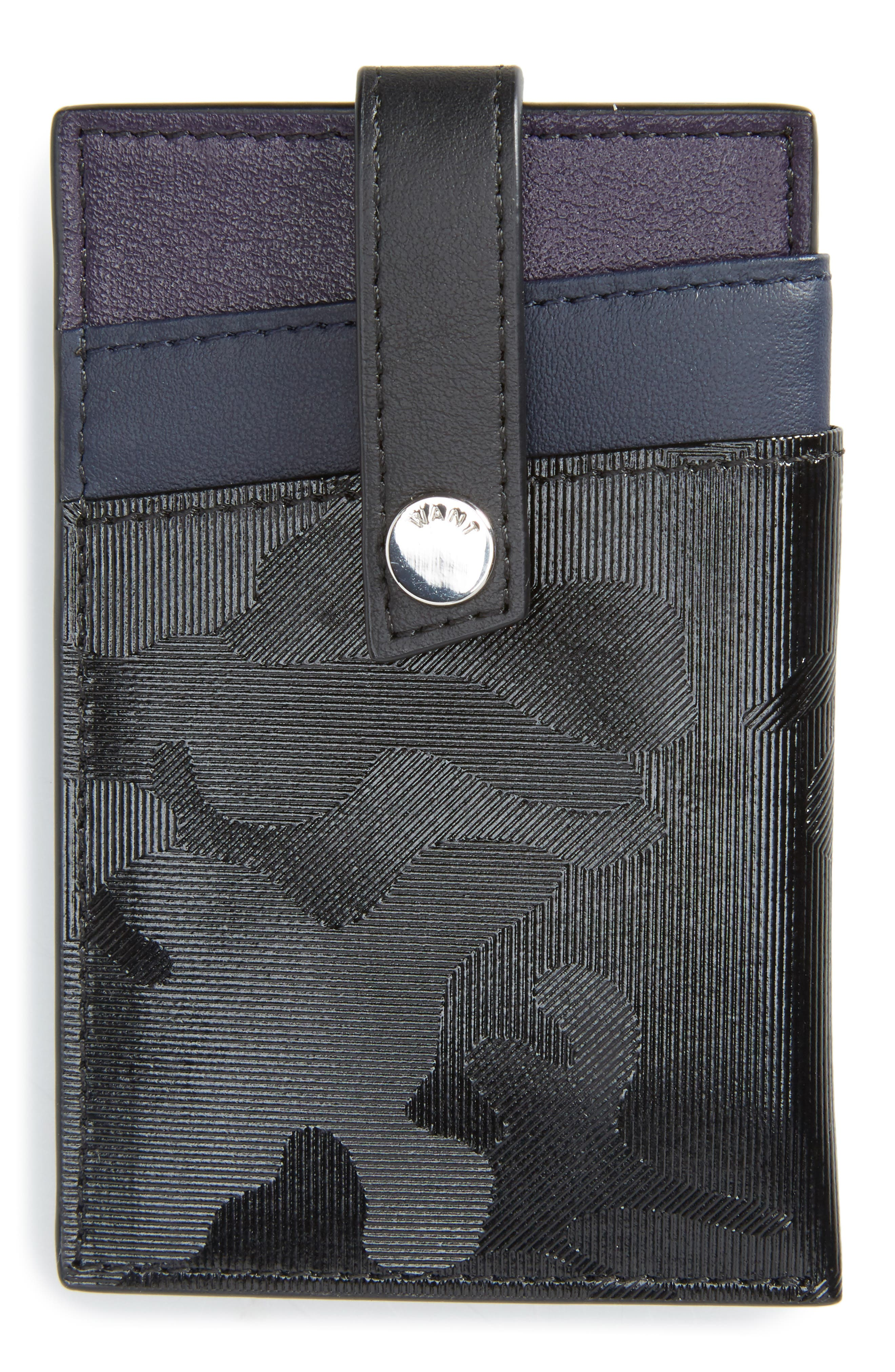 WANT LES ESSENTIELS Kennedy Leather Money Clip Card Case