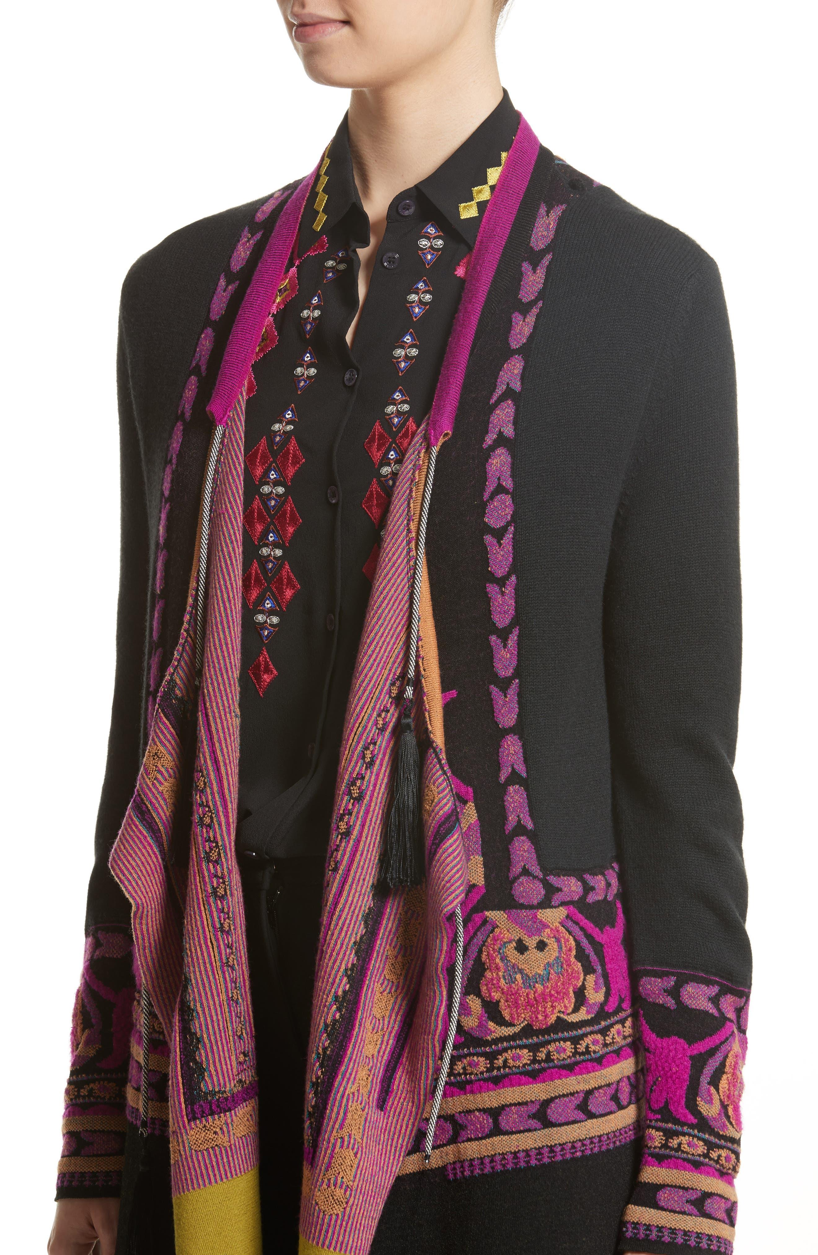 Alternate Image 5  - Etro Tassel Wool Blend Cardigan