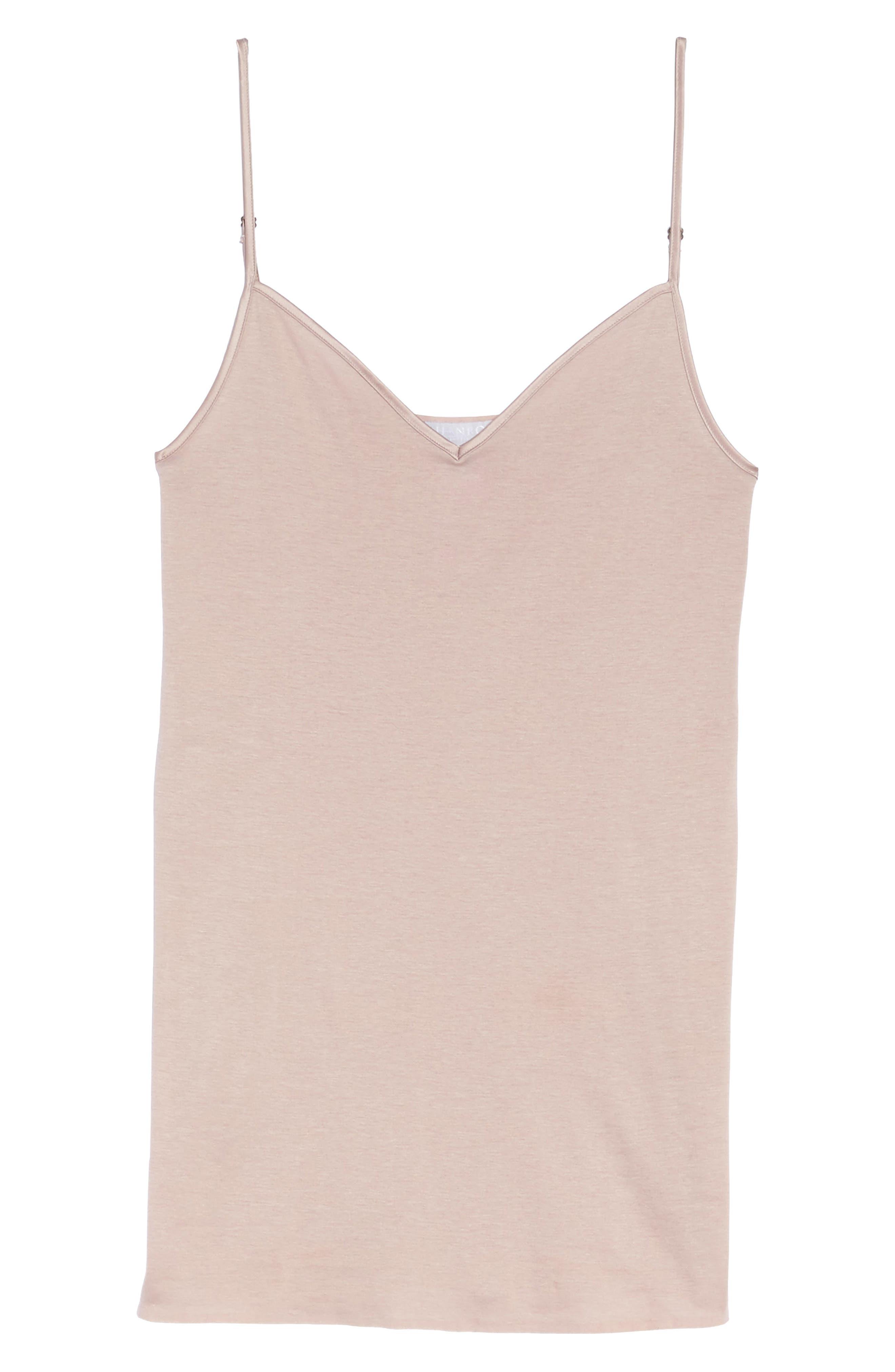 Alternate Image 4  - Hanro Seamless V-Neck Cotton Camisole