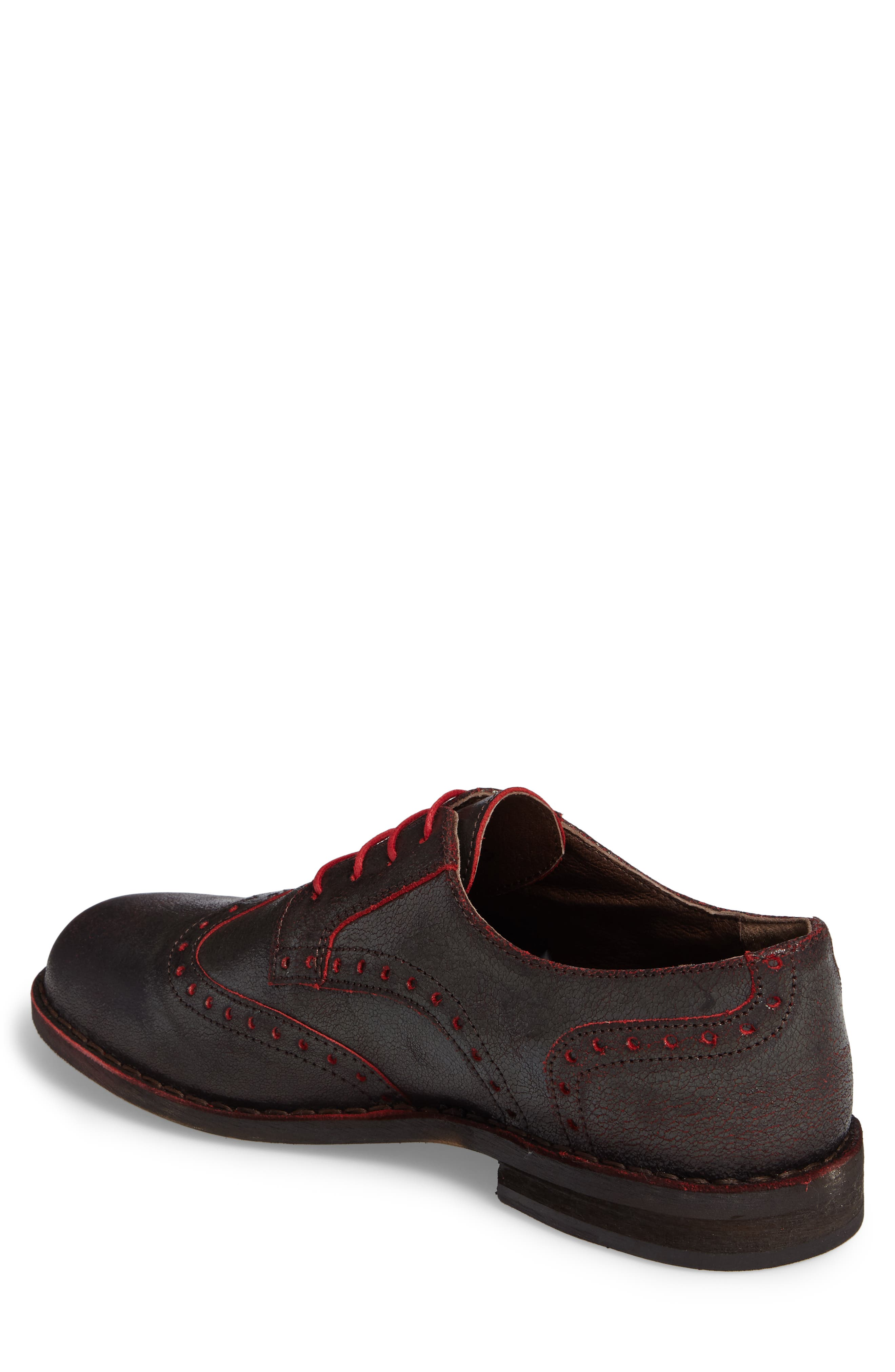 Idal Wingtip,                             Alternate thumbnail 2, color,                             Brown/ Red