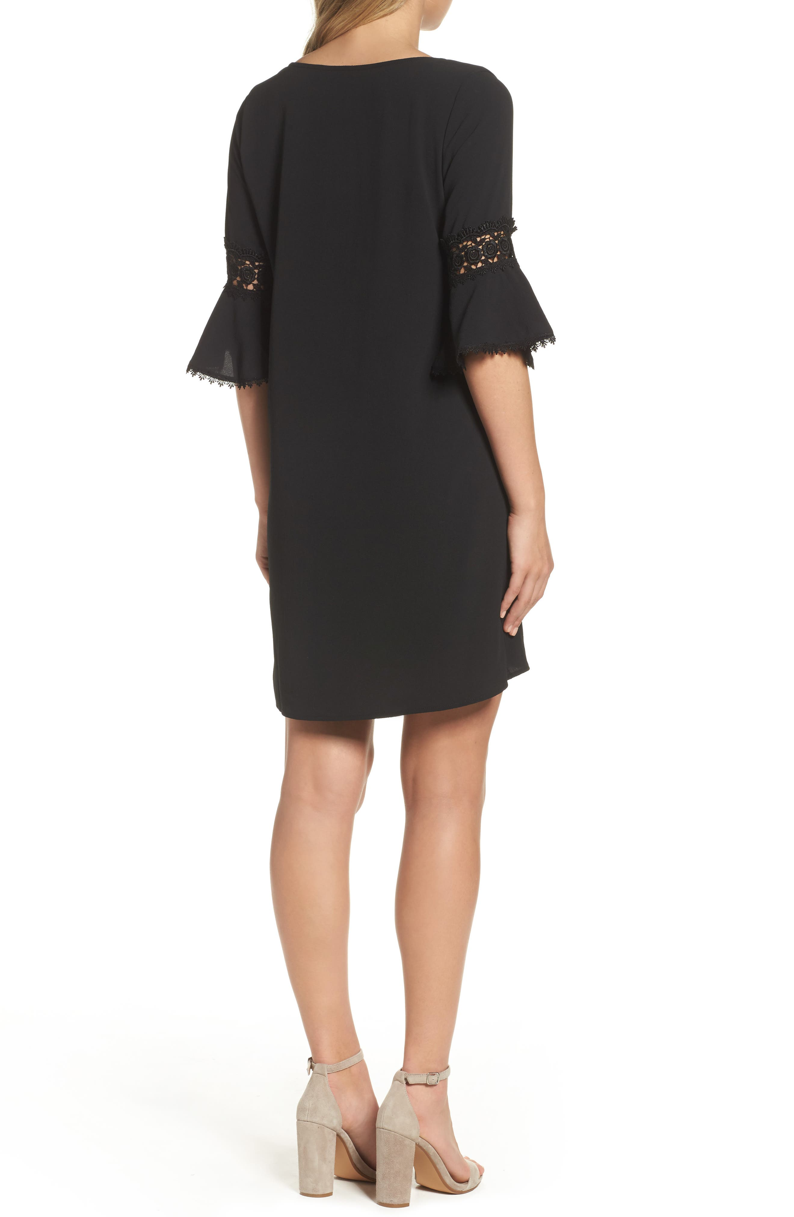 Alternate Image 2  - Mary & Mabel Bell Sleeve Shift Dress