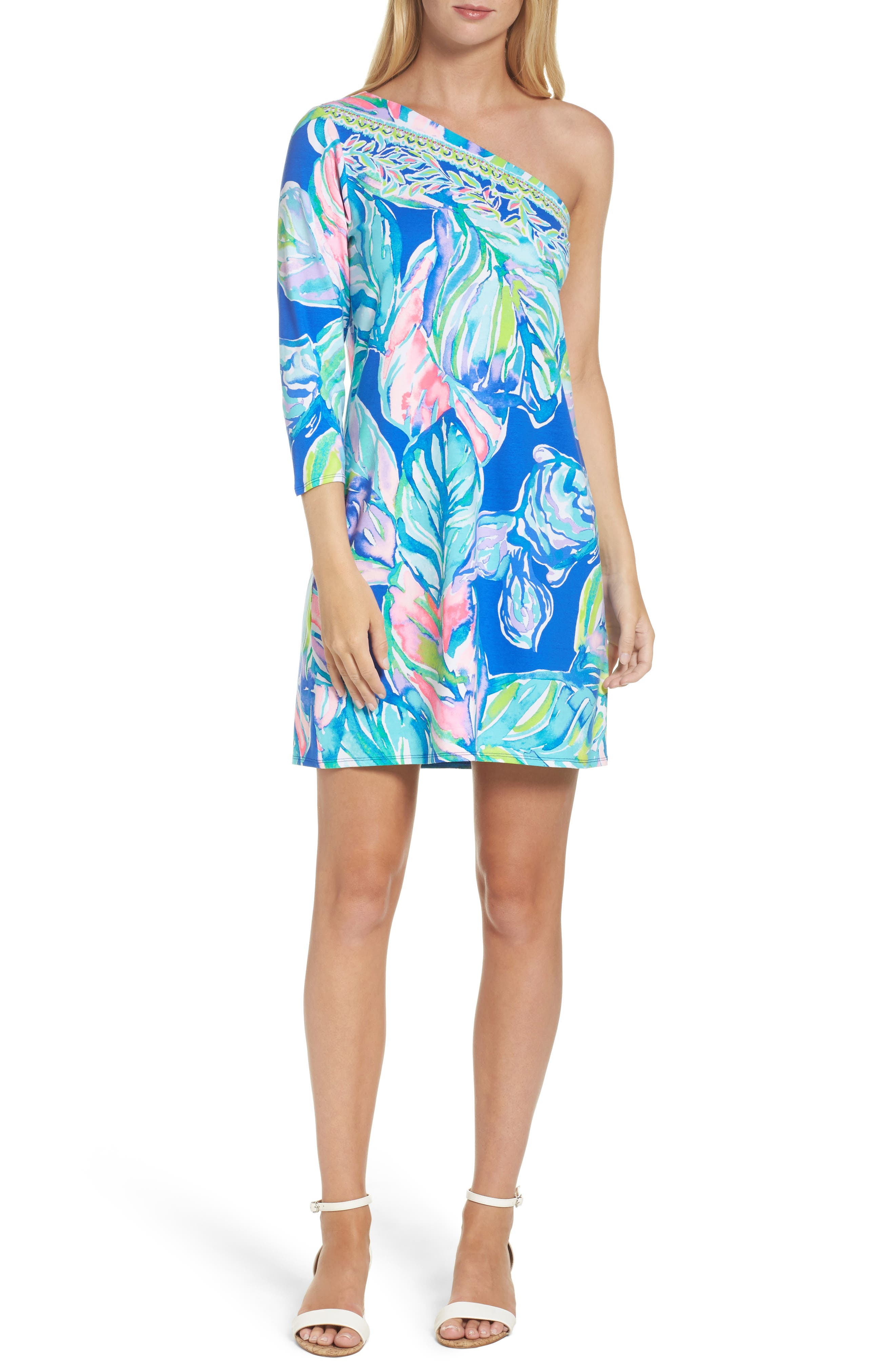 Lilly Pulitzer® Petra One-Shoulder Shift Dress