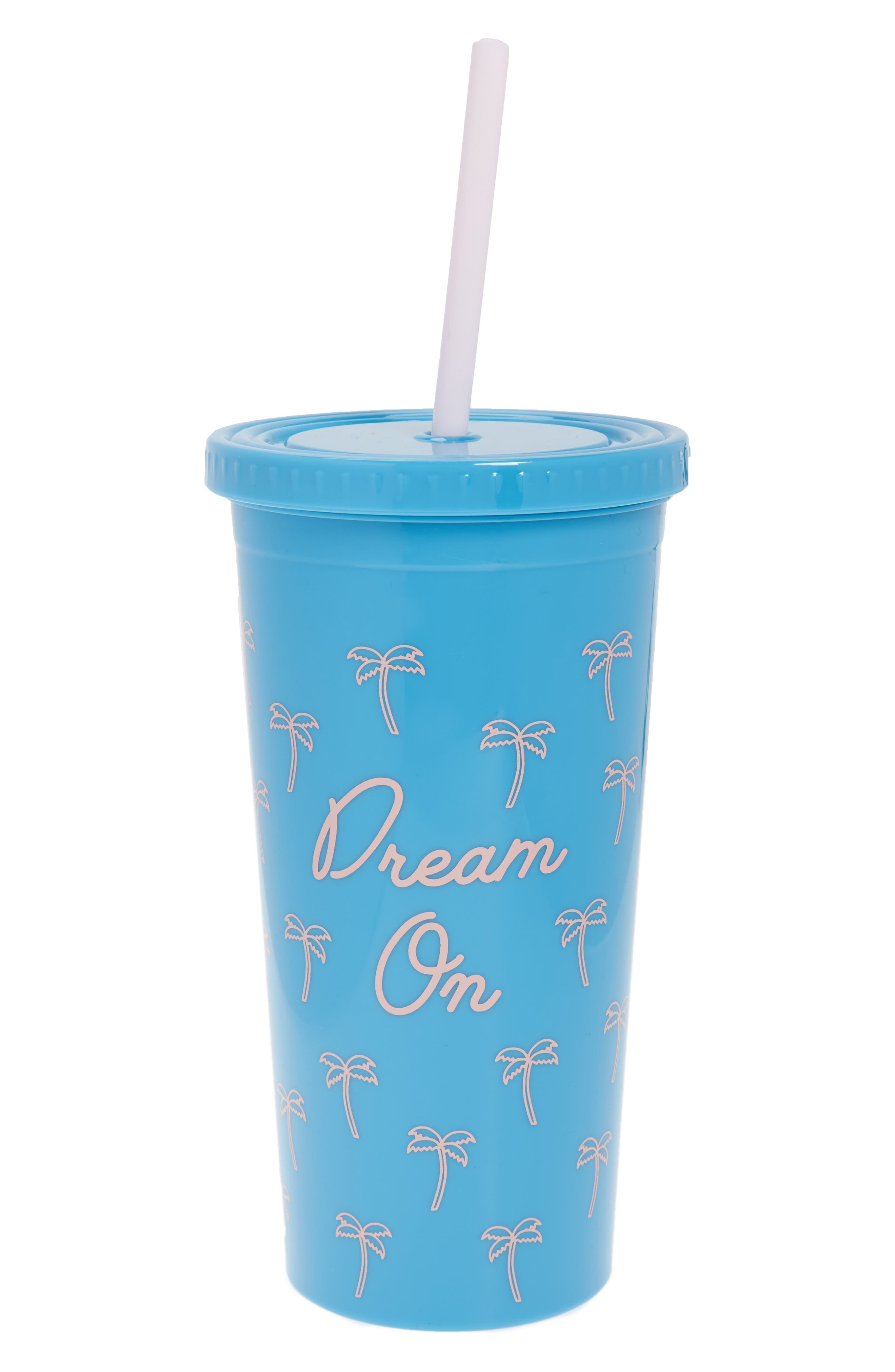 Dream On Tumbler & Straw,                         Main,                         color, Blue