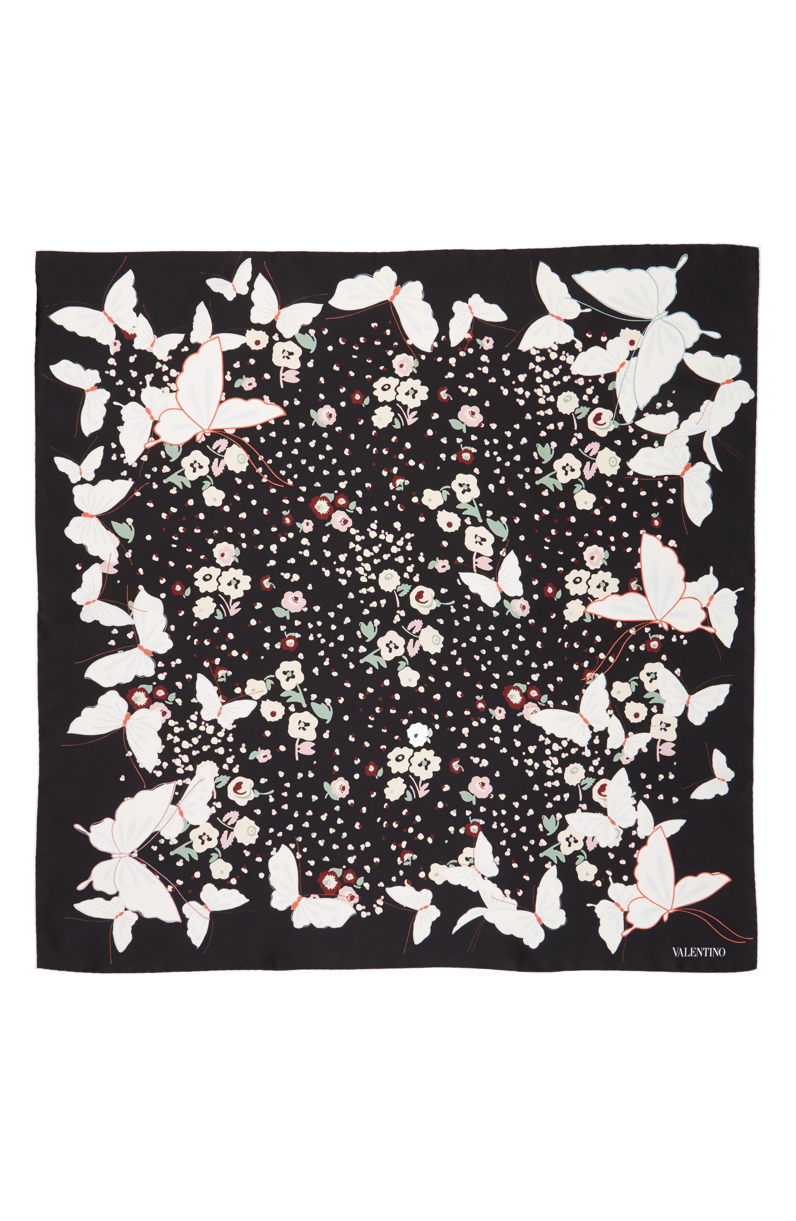 Valentino Butterfly Silk Scarf