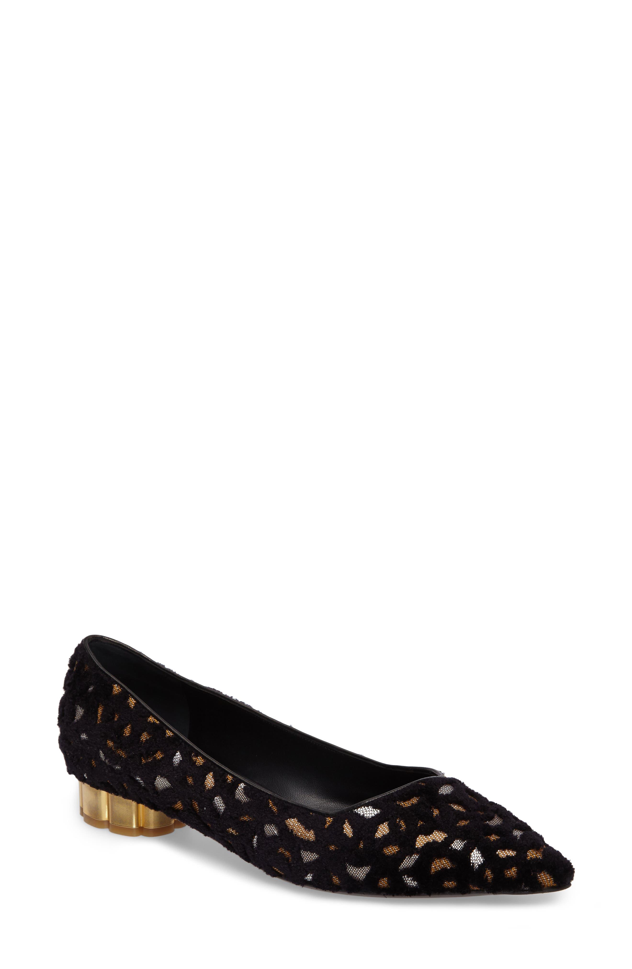 Alternate Image 1 Selected - Salvatore Ferragamo Flower Heel Flat (Women)