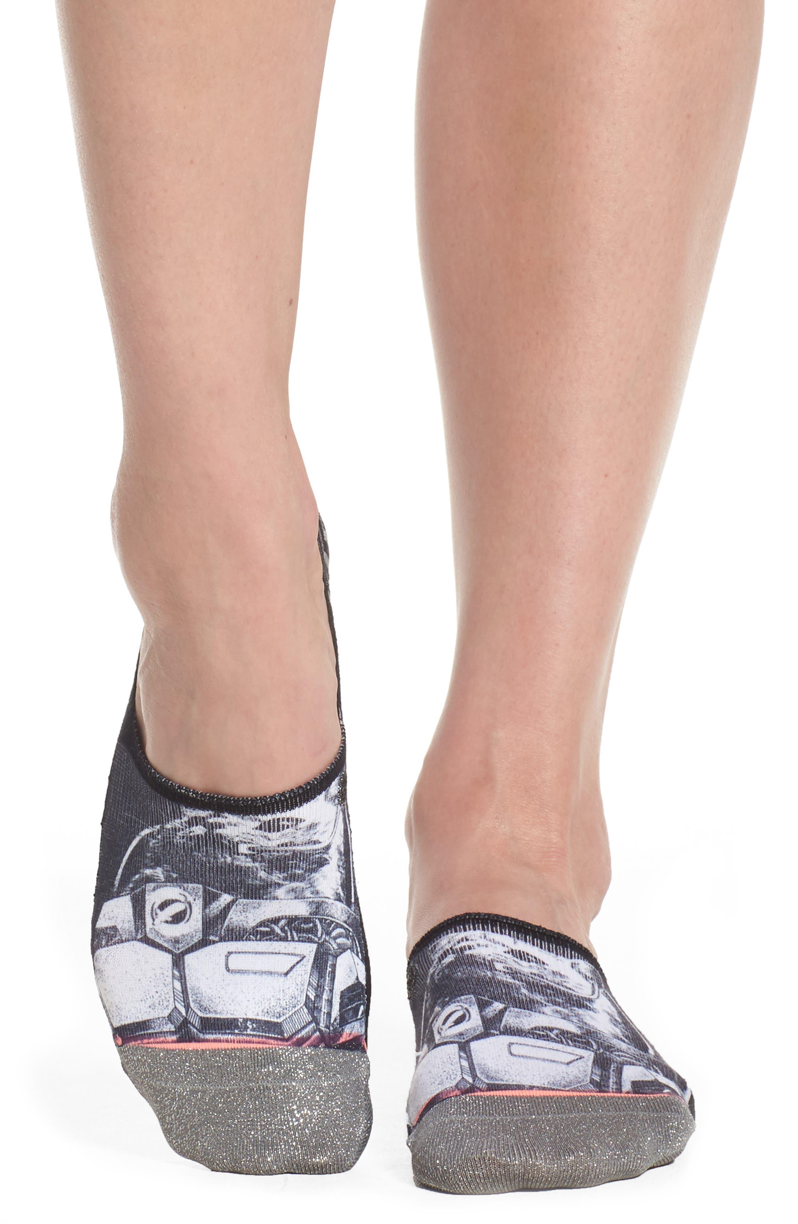 Moonwalker Super Invisible No-Show Socks,                         Main,                         color, Black