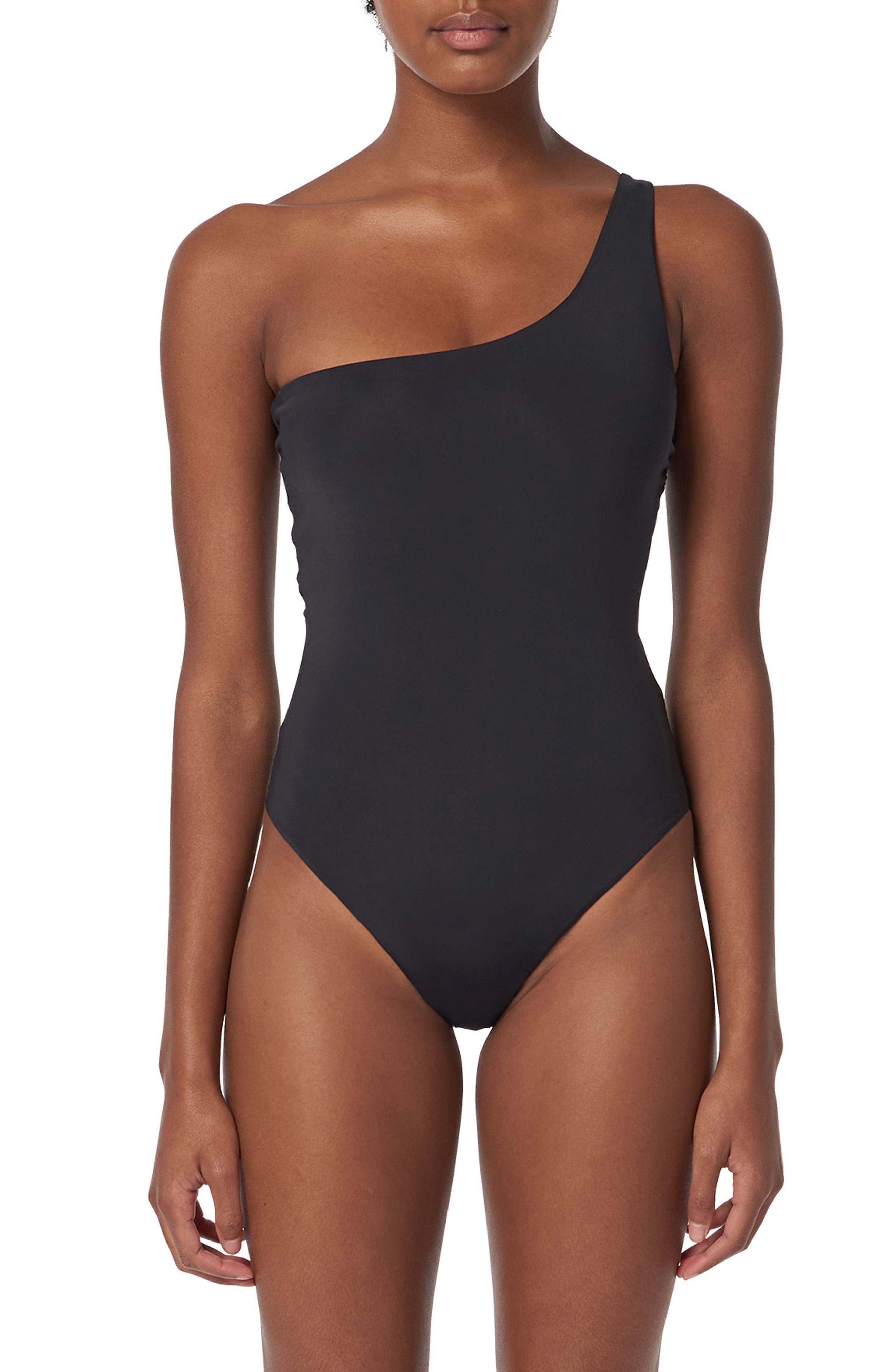 Cher One-Piece Swimsuit,                         Main,                         color, Black