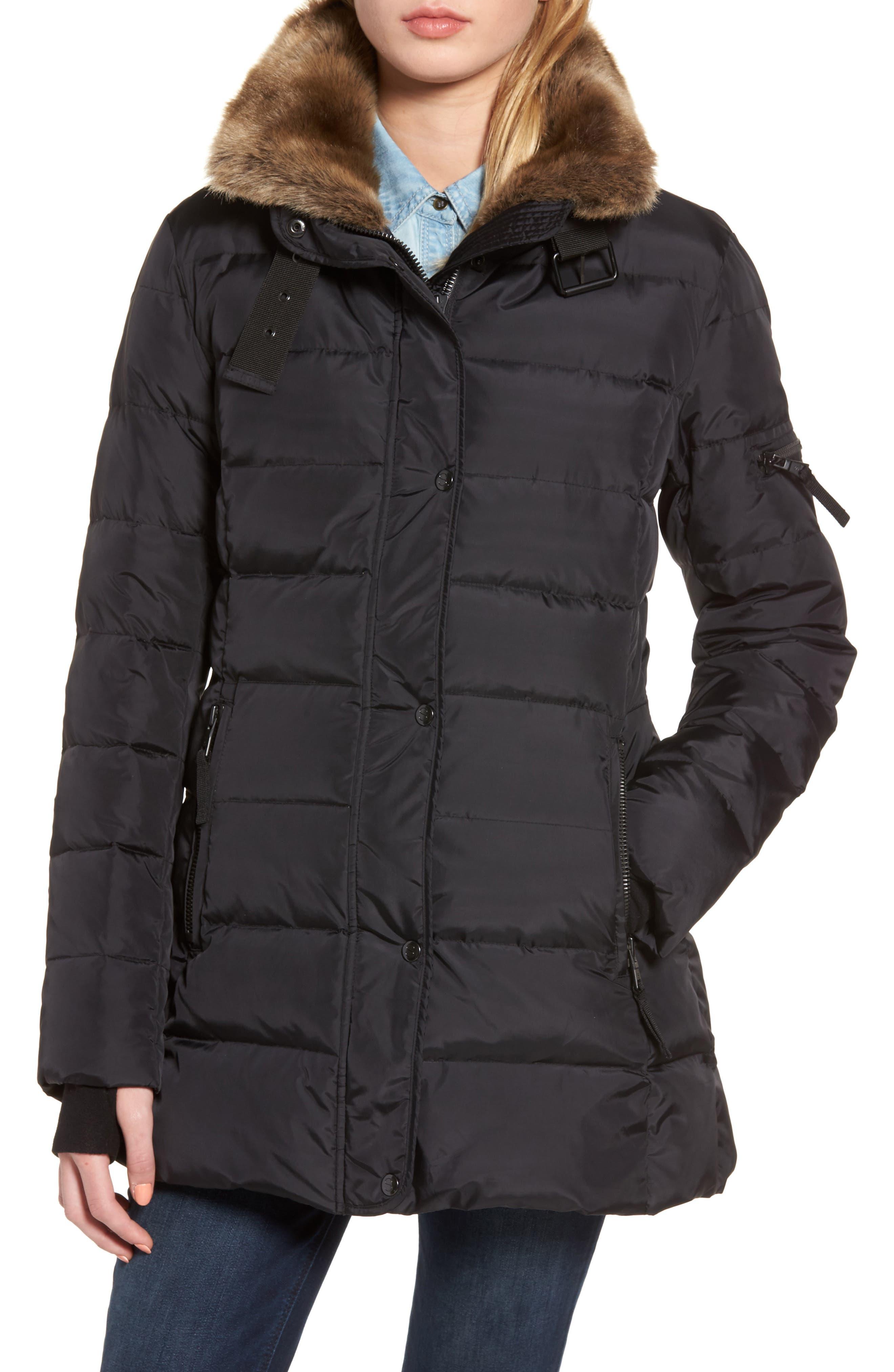 Alternate Image 4  - S13 Faux Fur Hooded Coat