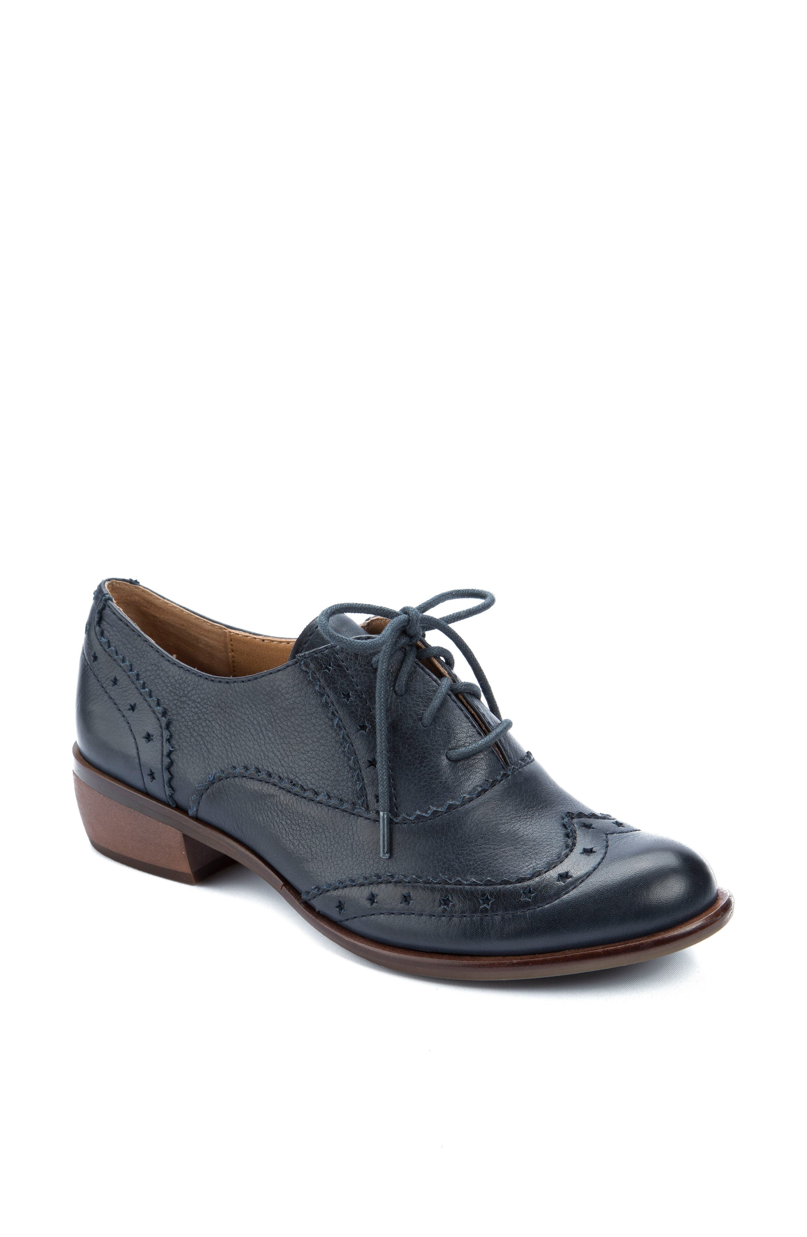 Heart Lace-Up Loafer,                         Main,                         color, Navy
