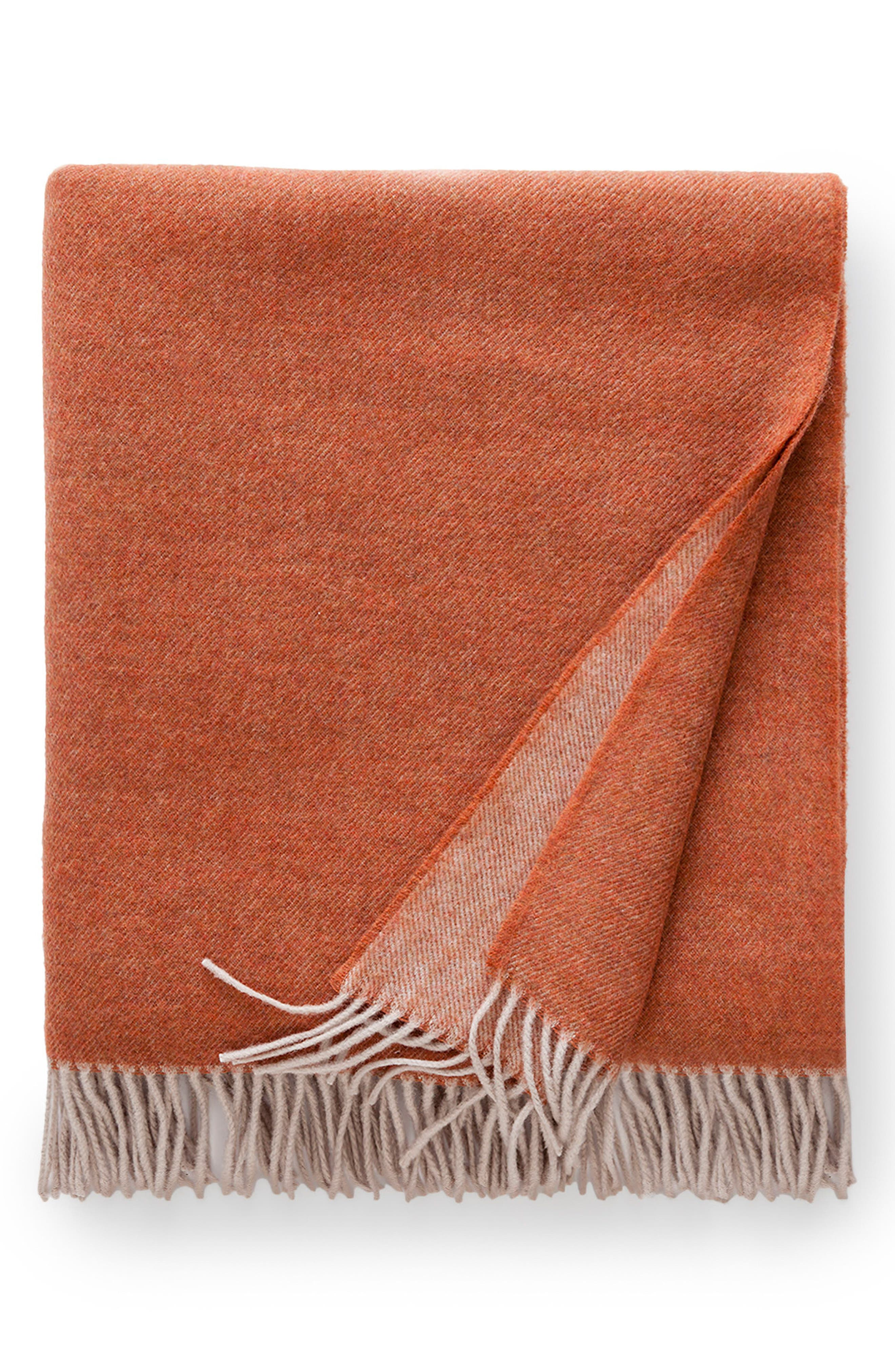 Tartini Merino Wool Throw,                             Main thumbnail 1, color,                             Copper