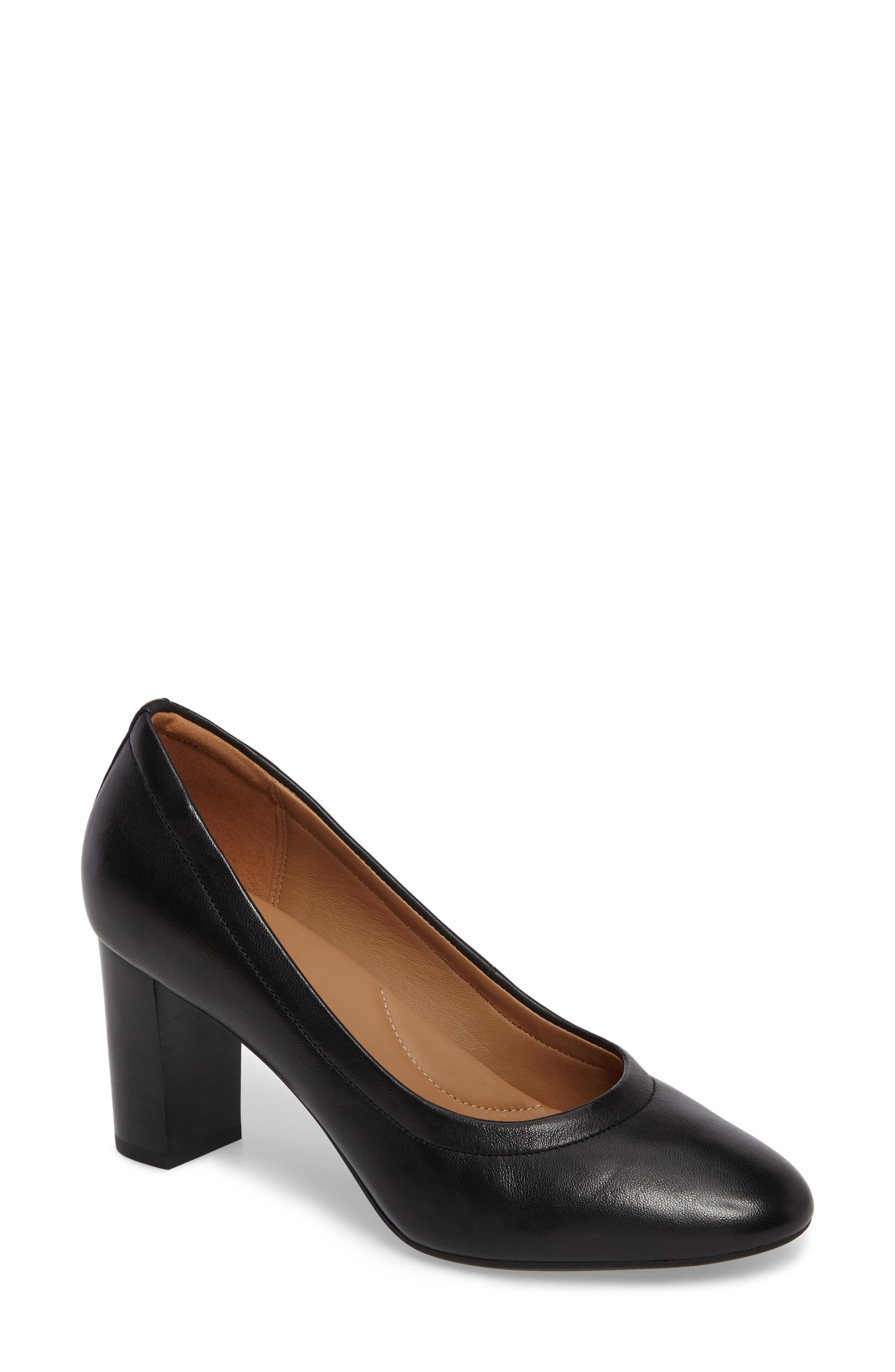 Chryssa Ari Pump,                         Main,                         color, Black Leather