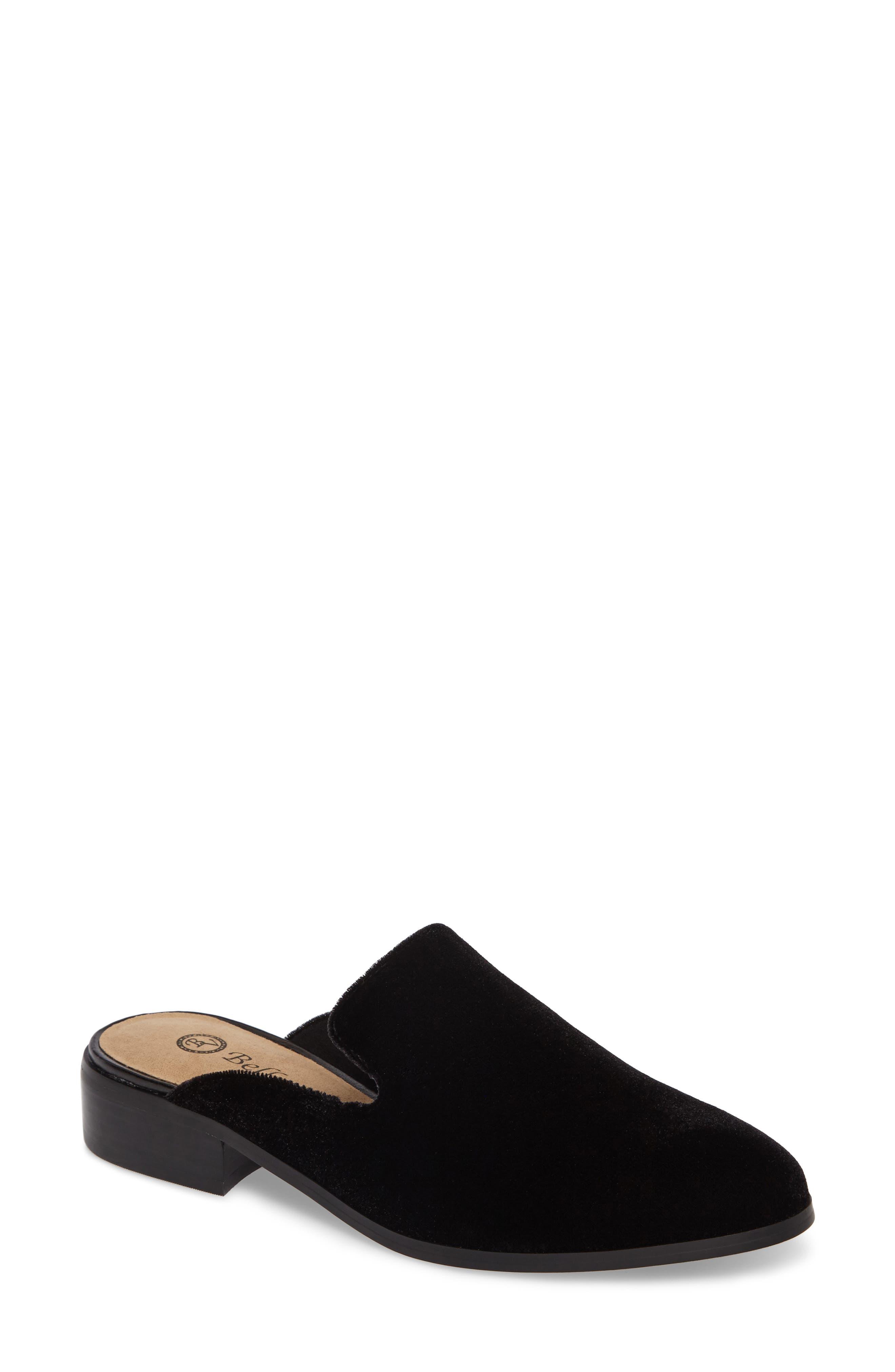 Briar II Loafer Mule,                             Main thumbnail 1, color,                             Black Fabric