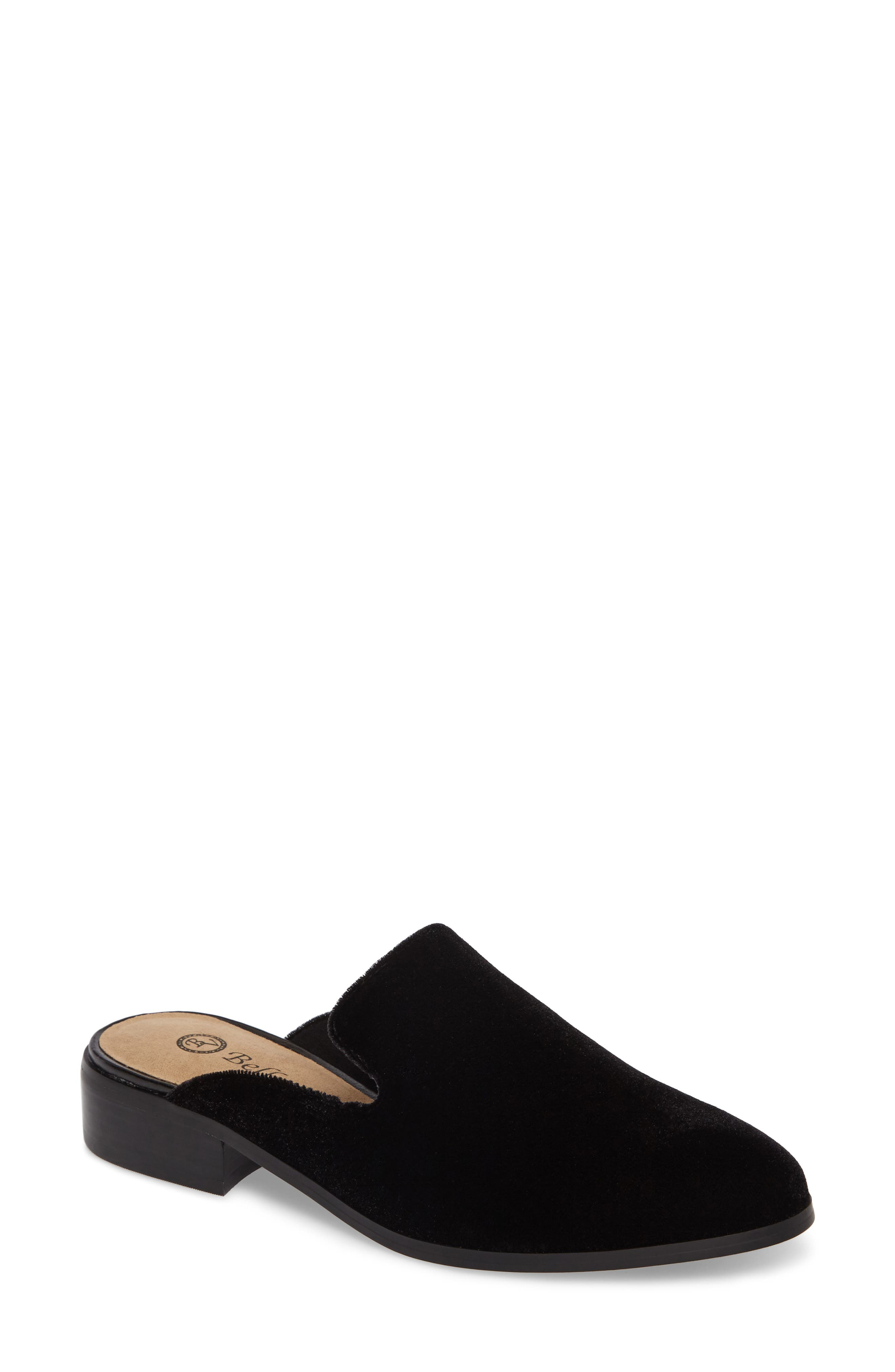 Briar II Loafer Mule,                         Main,                         color, Black Fabric