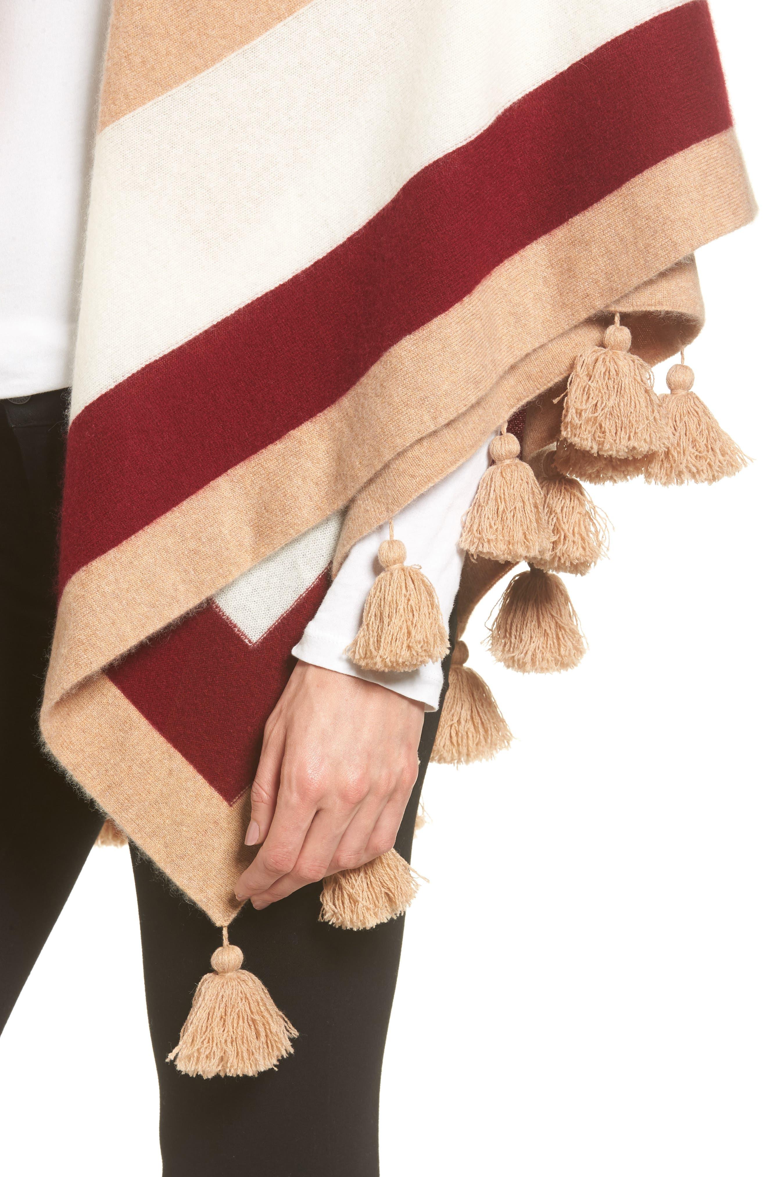 Alternate Image 4  - Nordstrom Collection Tassel Trim Cashmere Wrap