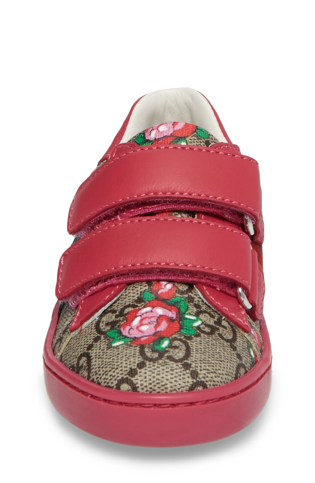 Alternate Image 4  - Gucci New Ace Monogram Sneaker (Baby, Walker & Toddler)