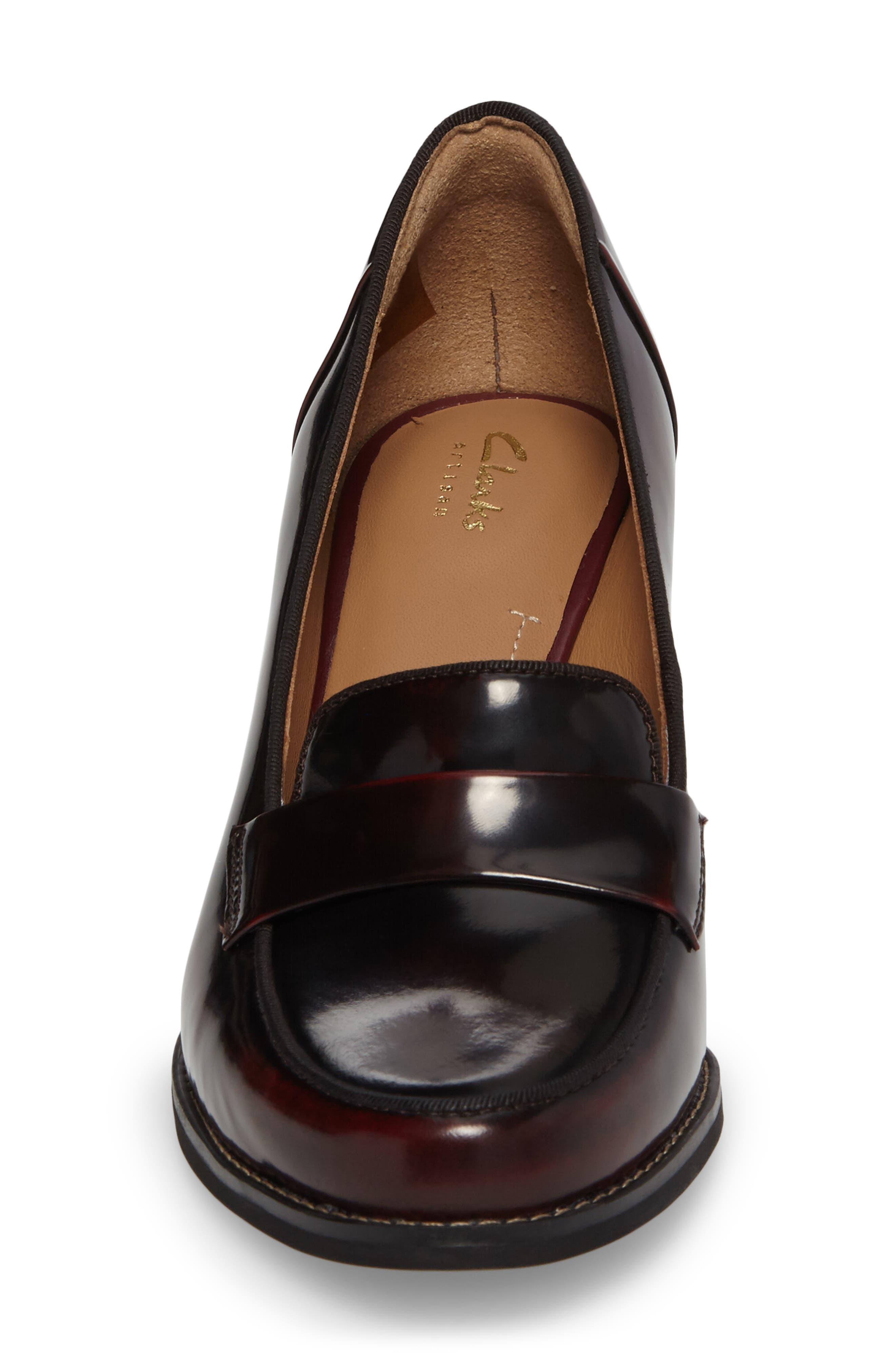 Tarah Grace Pump,                             Alternate thumbnail 4, color,                             Burgundy Leather