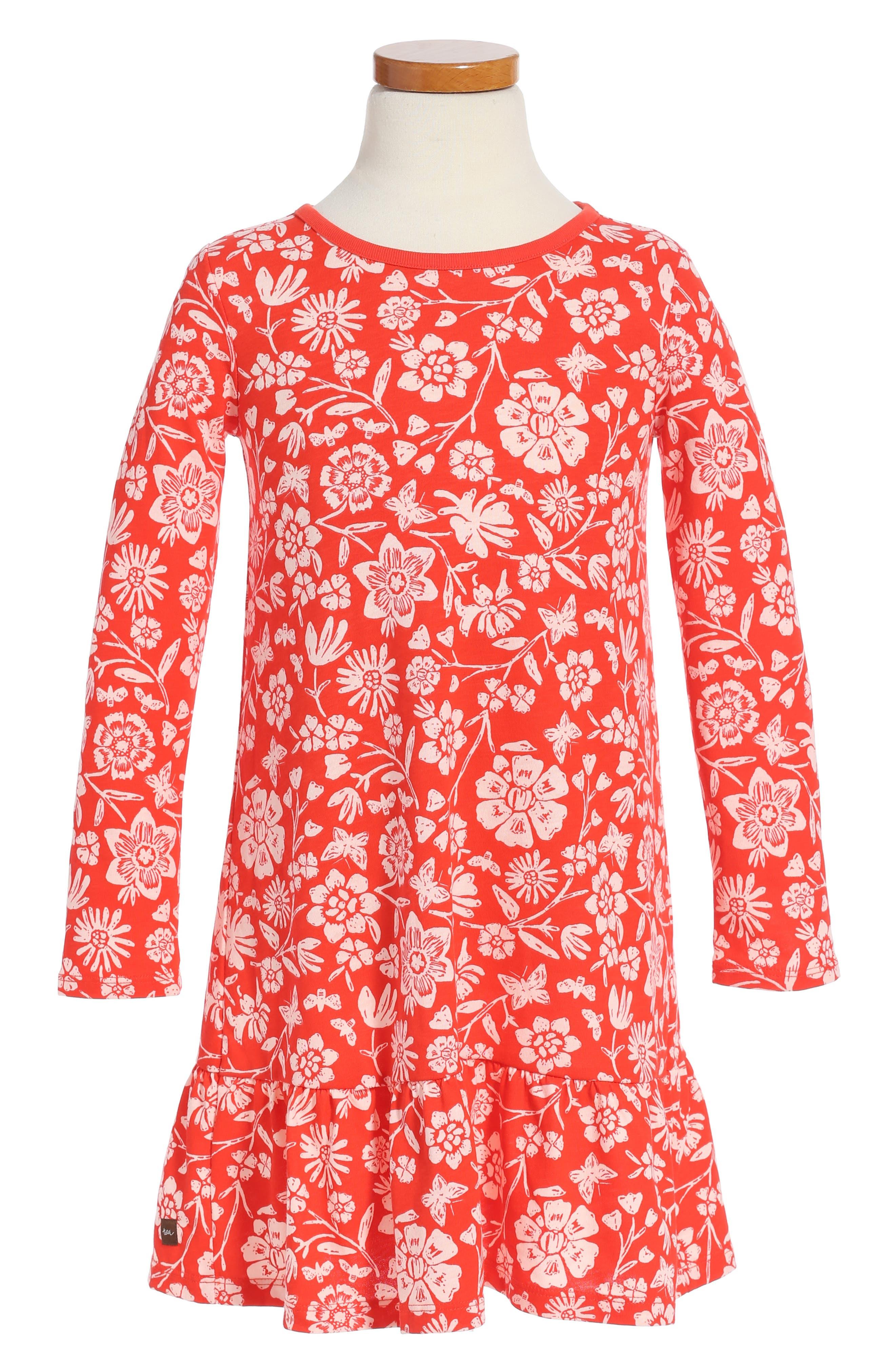 Tea Collection Holly Drop Waist Dress (Toddler Girls, Little Girls & Big Girls)