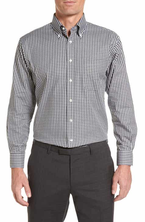a8b04a179ff Nordstrom Men s Shop Traditional Fit Non-Iron Gingham Dress Shirt