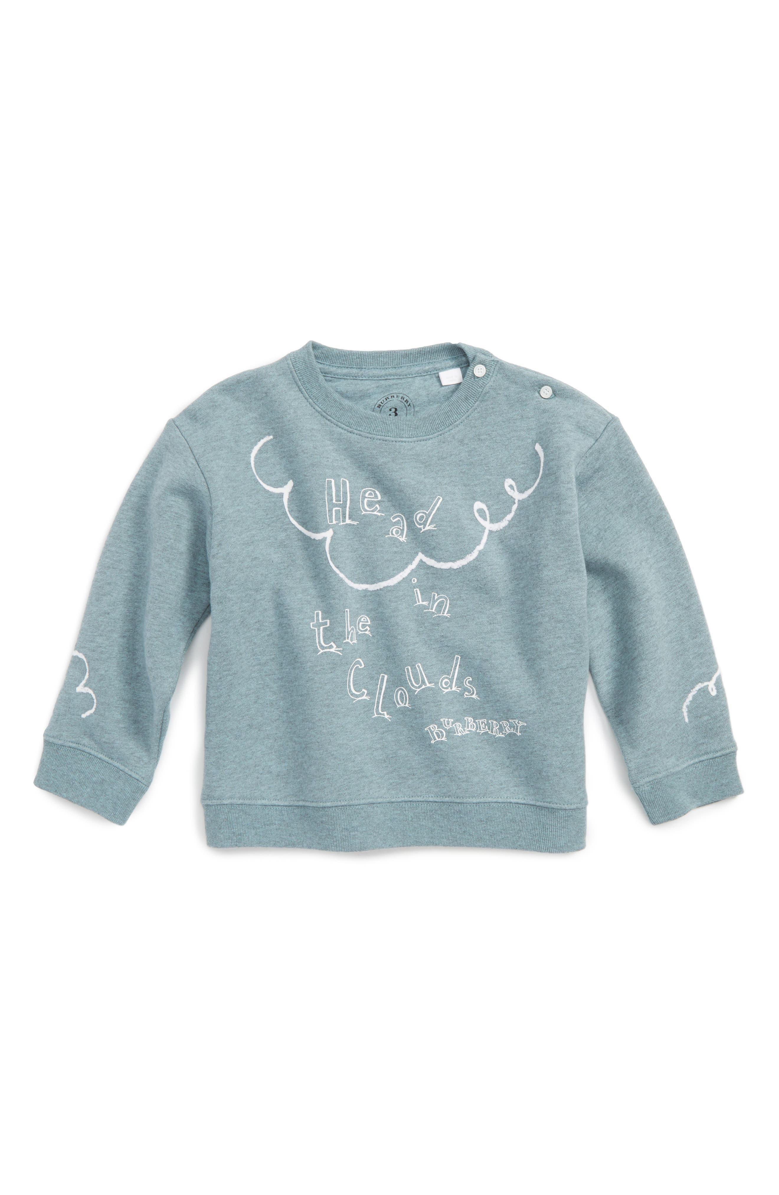 Main Image - Burberry Graphic Pullover (Baby Girls)