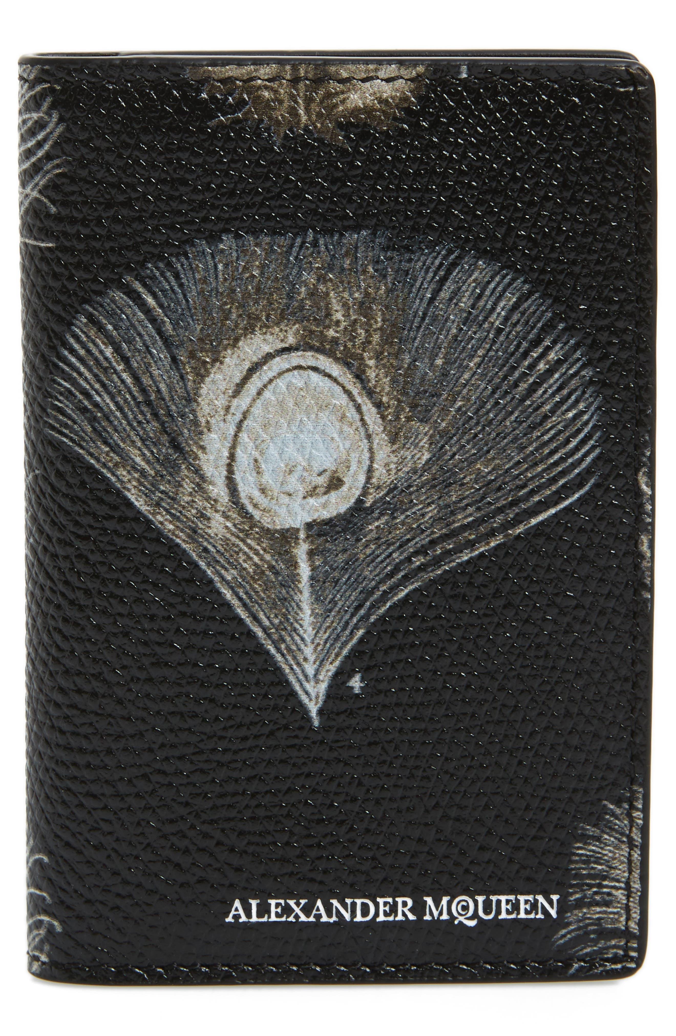 ALEXANDER MCQUEEN Peacock Feather Pocket Organizer