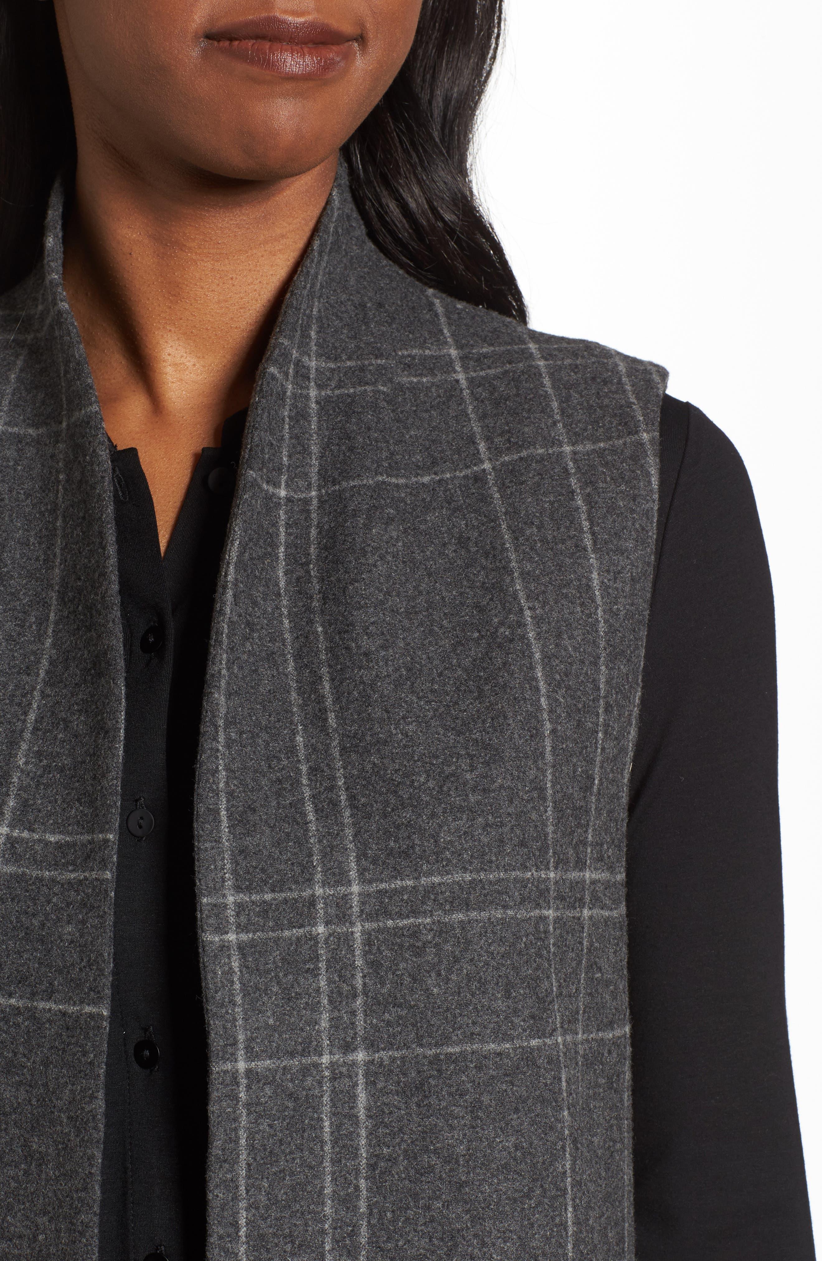 Alternate Image 4  - Eileen Fisher Long Plaid Vest