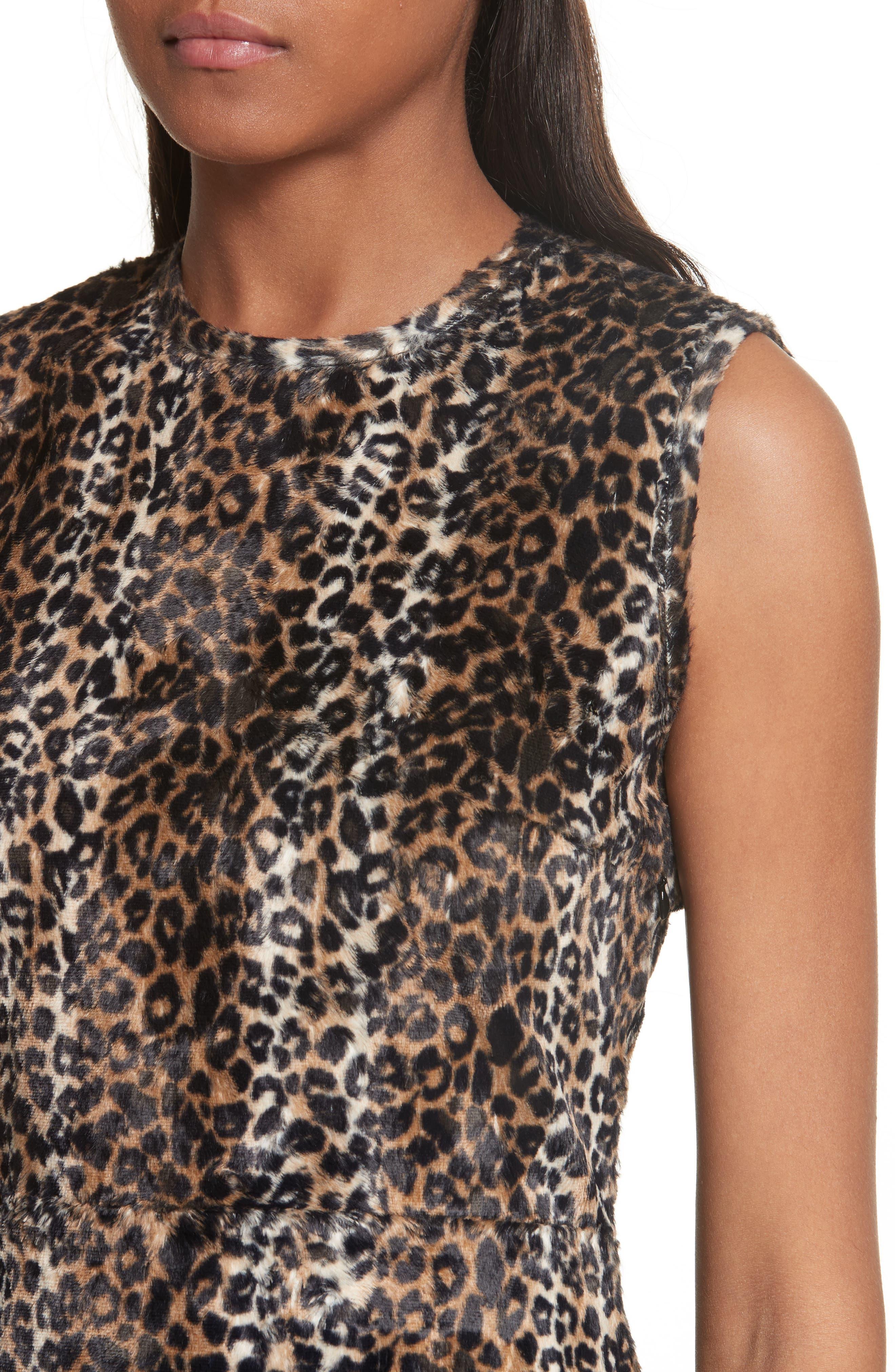 Alternate Image 4  - Rachel Comey Sling Cheetah Faux Fur Sheath Dress