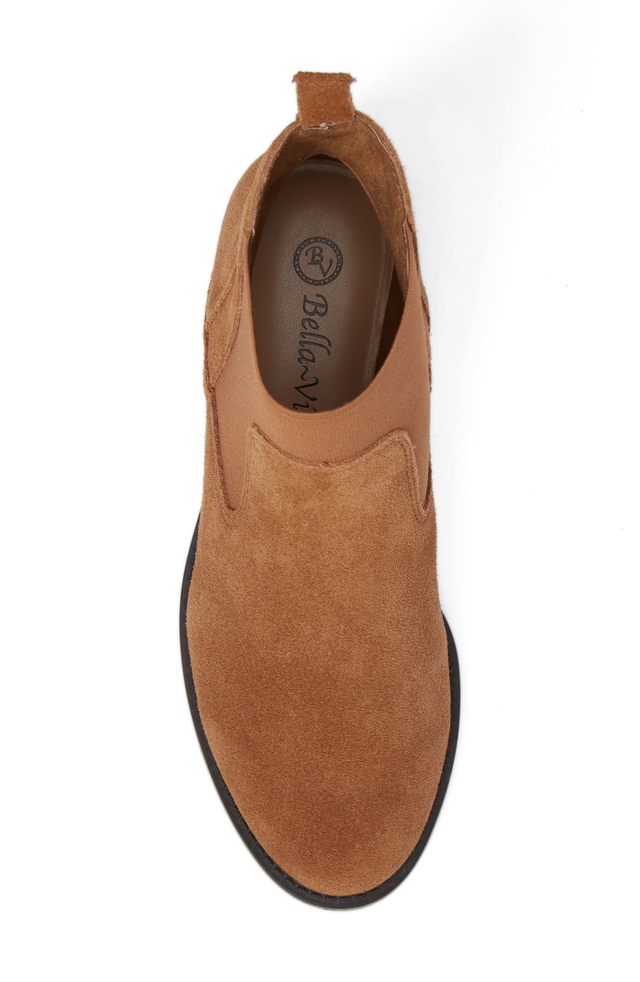 Rayna Chelsea Boot,                             Alternate thumbnail 4, color,                             Tan Suede