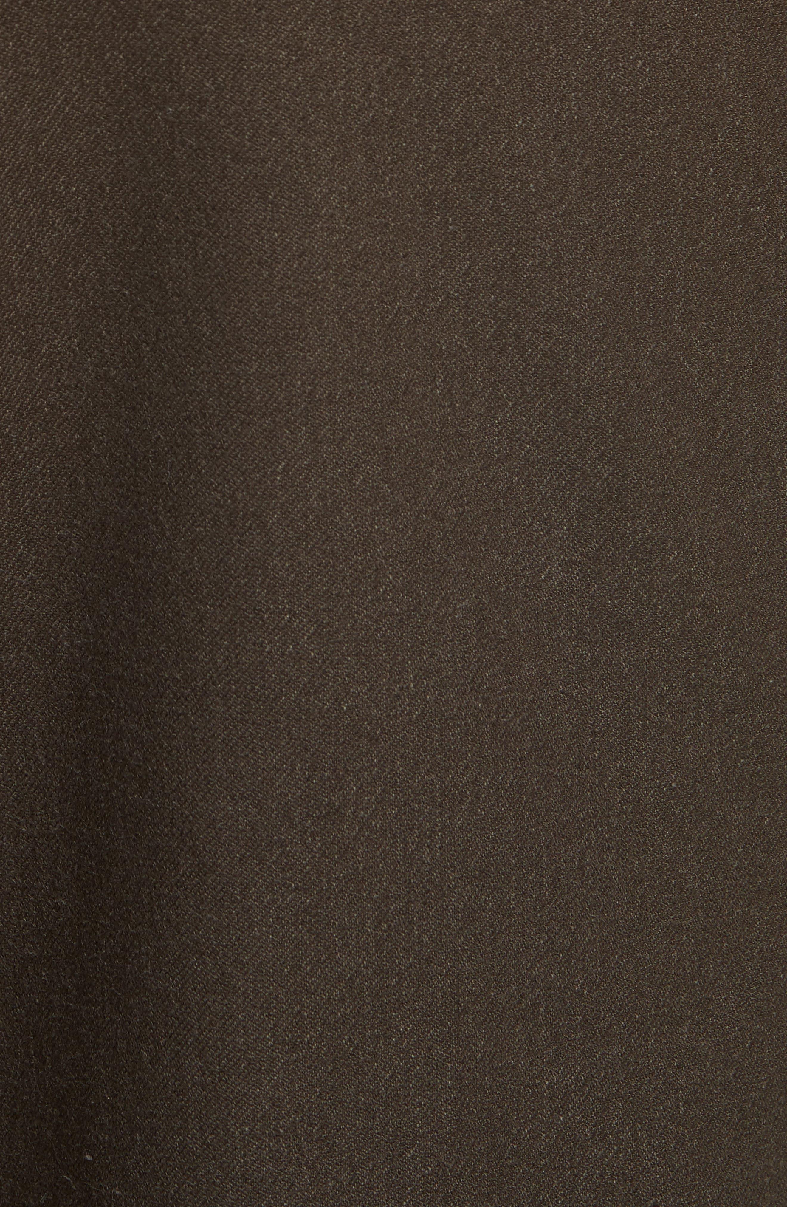 New Tony Gabardine Crop Pants,                             Alternate thumbnail 5, color,                             Chocolate